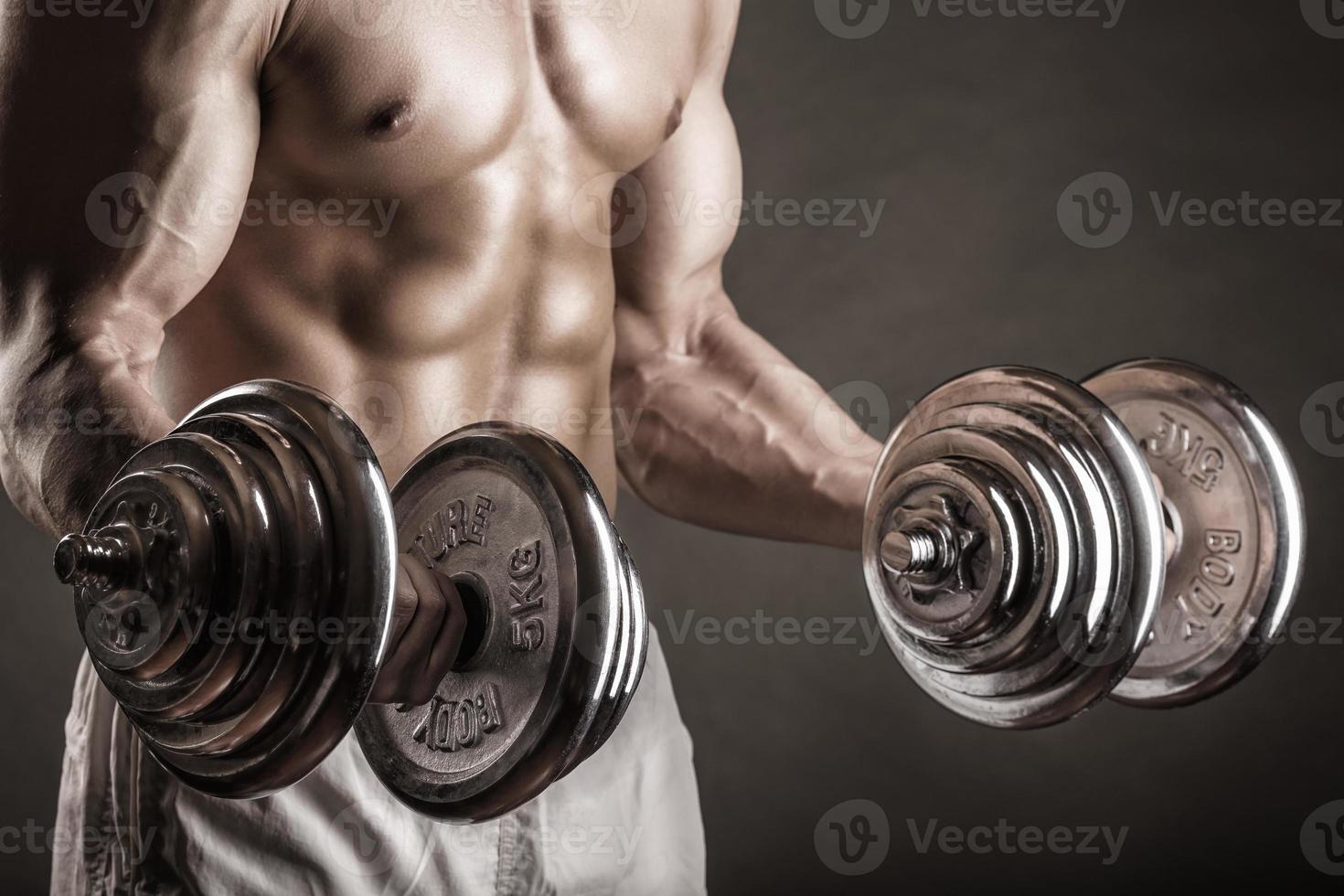 Gewichte heben foto