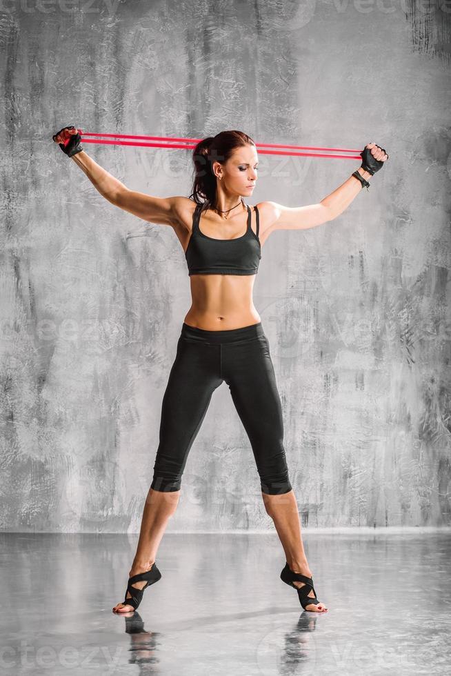 die Yoga-Frau foto