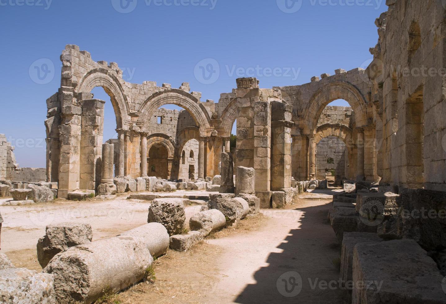 Kirche des Heiligen Simeon in Syrien foto