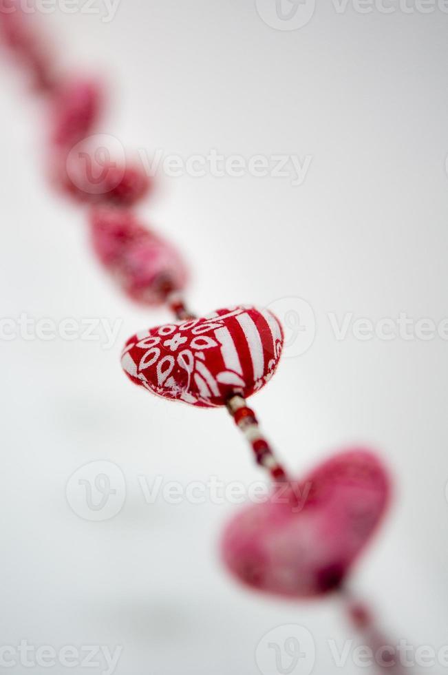 Herzen in einer Reihe foto