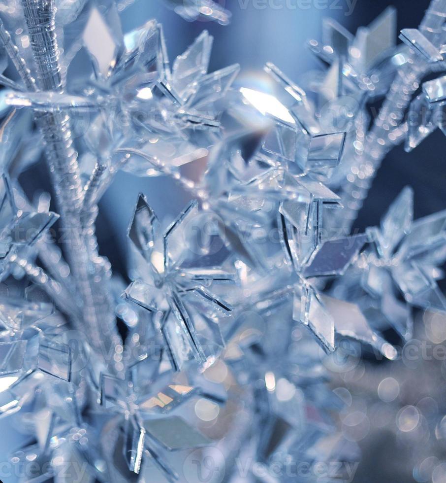 Winterhintergrund mit Eiskristallen foto