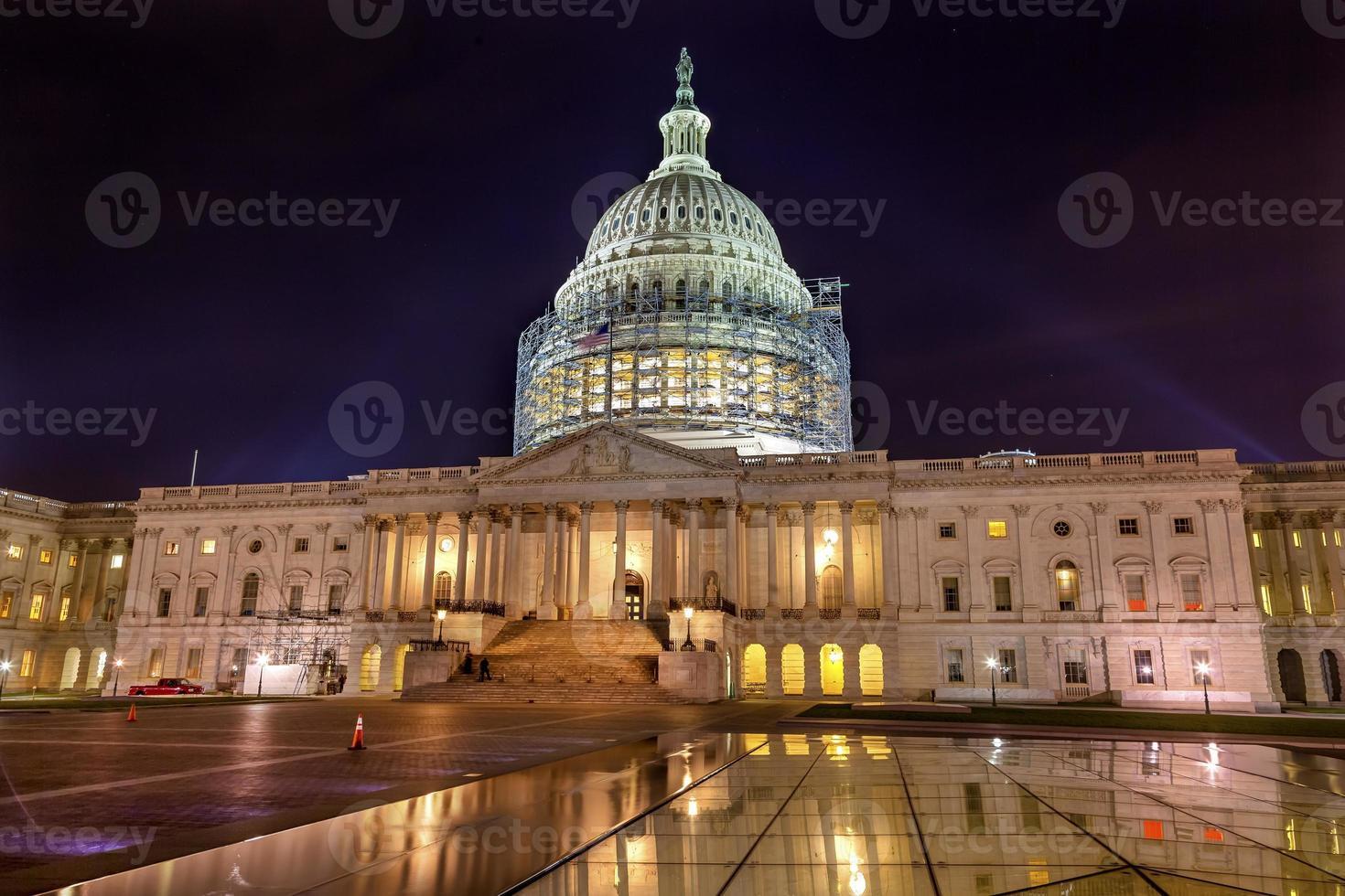 US Capitol North Side Bau Nacht Washington DC Reflexion foto