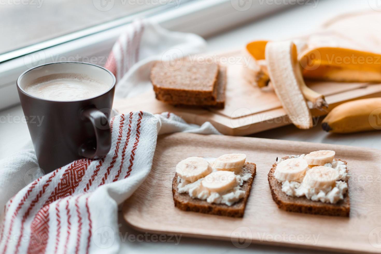 Sandwich mit Banane foto