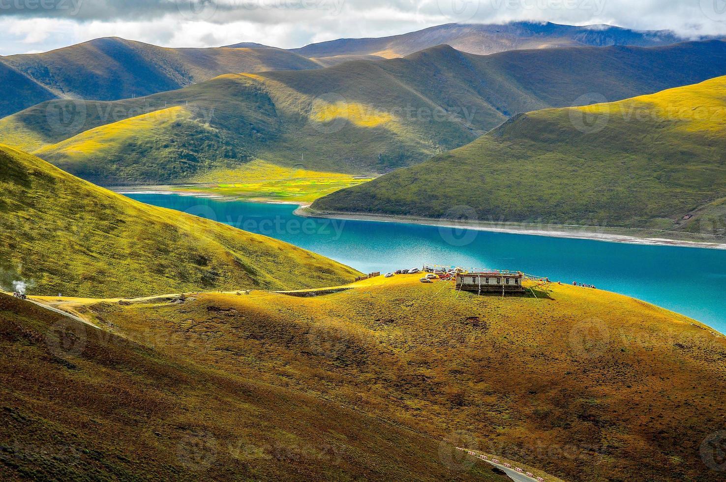 Herbst in Tibet foto