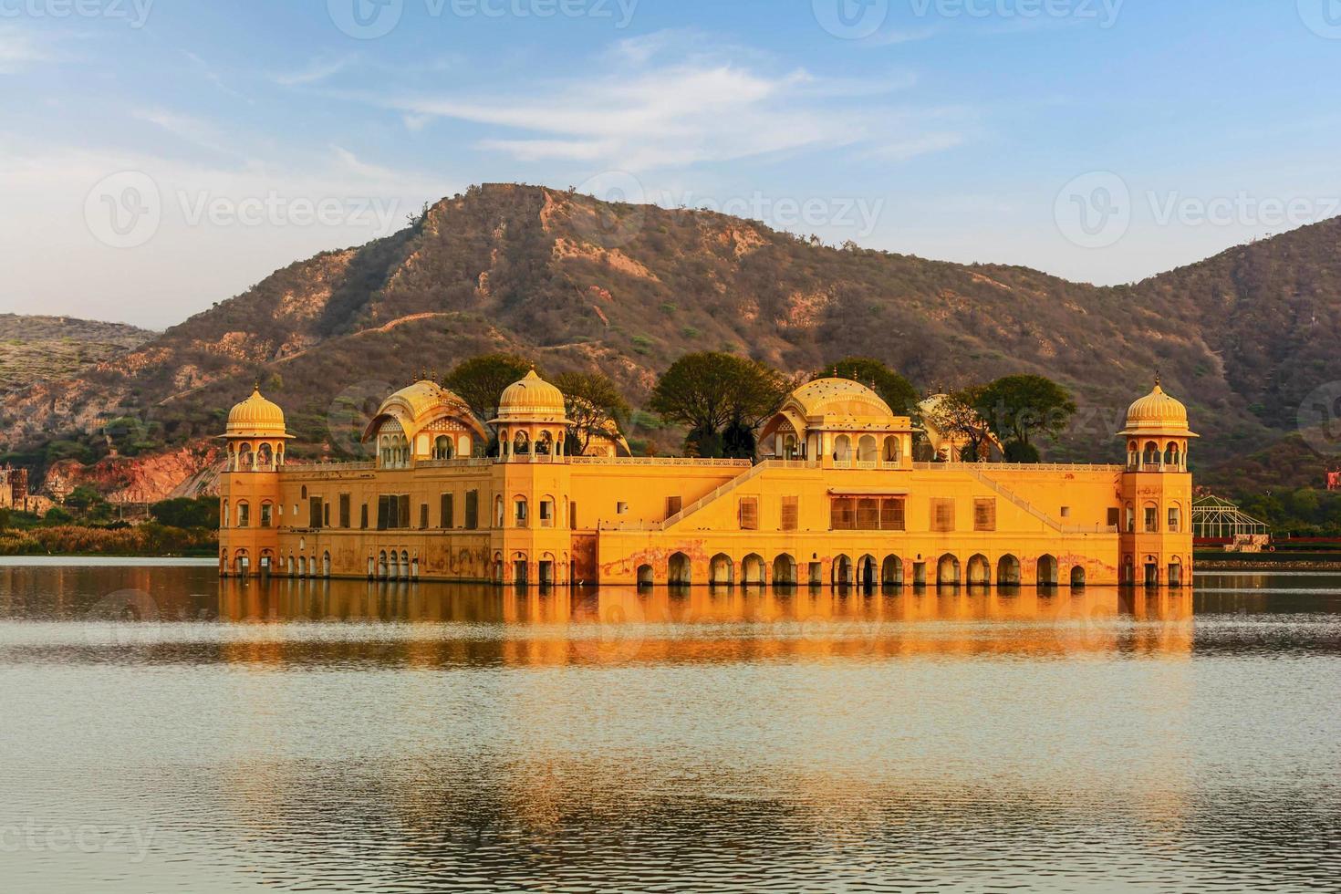 der Wasserpalast Rajasthan Jaipur, Indien foto
