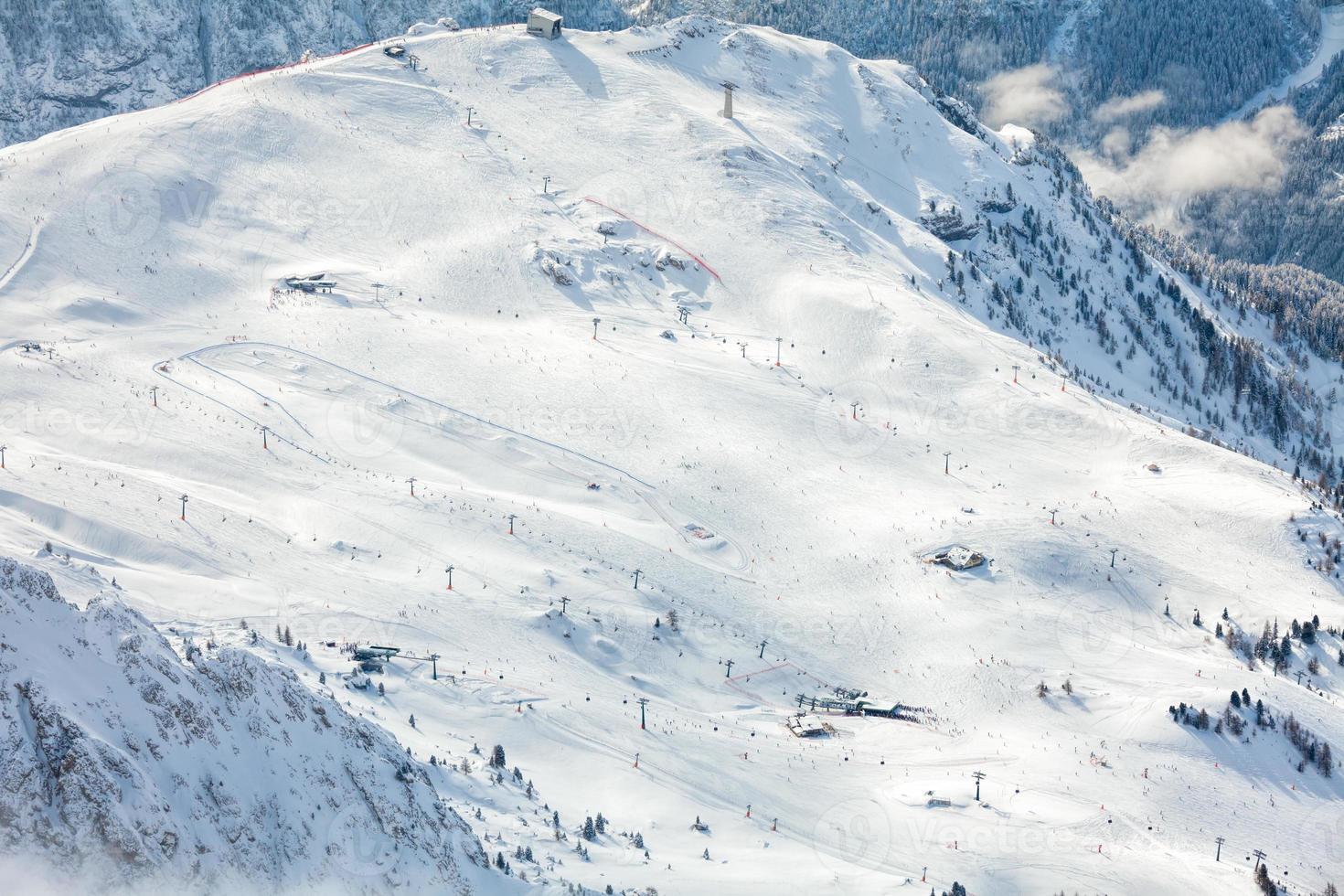 Skigebiet in Dolomiten foto