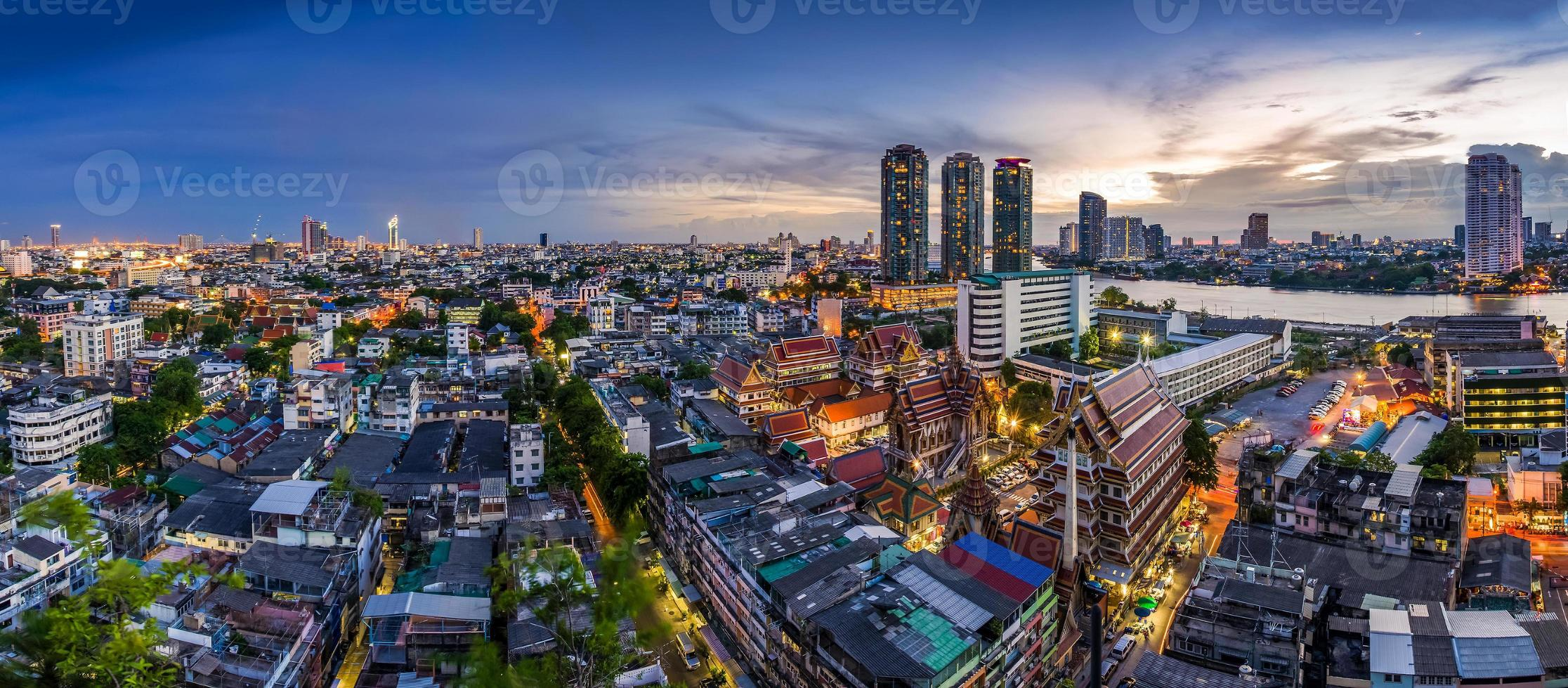 Tempel in Bangkok Thailand foto