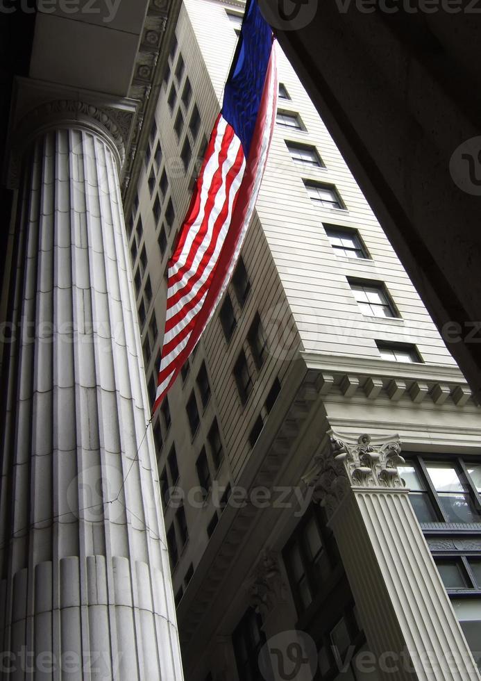 amerikanische Flagge in Philadelphia foto