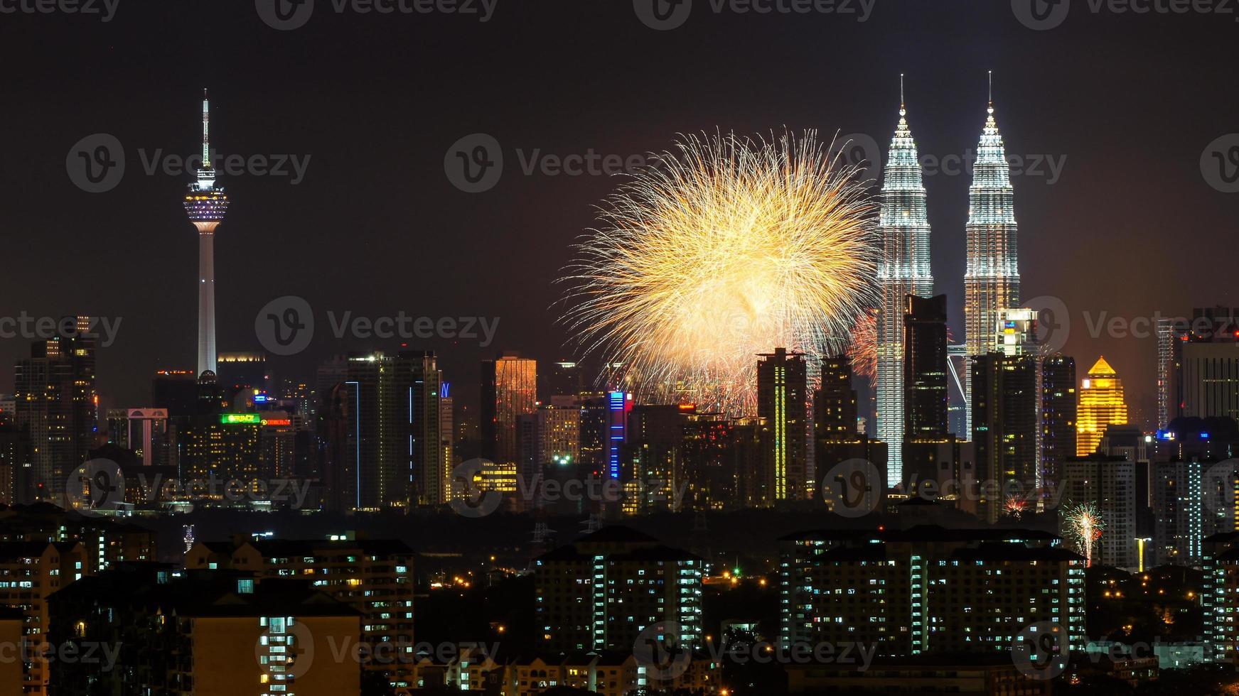Feuerwerk in kl foto