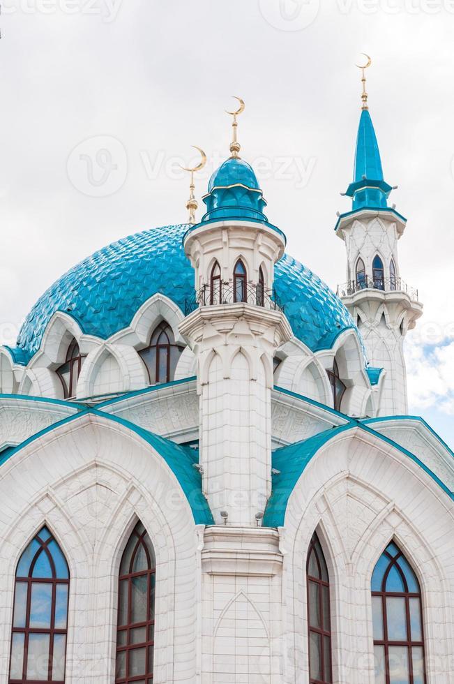 die kul sharif moschee im kazan kreml, tatarstan, russland foto