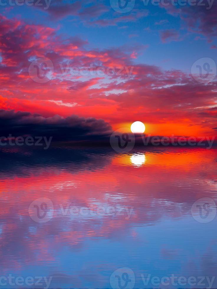 Meer Sonnenuntergang Sonne. foto