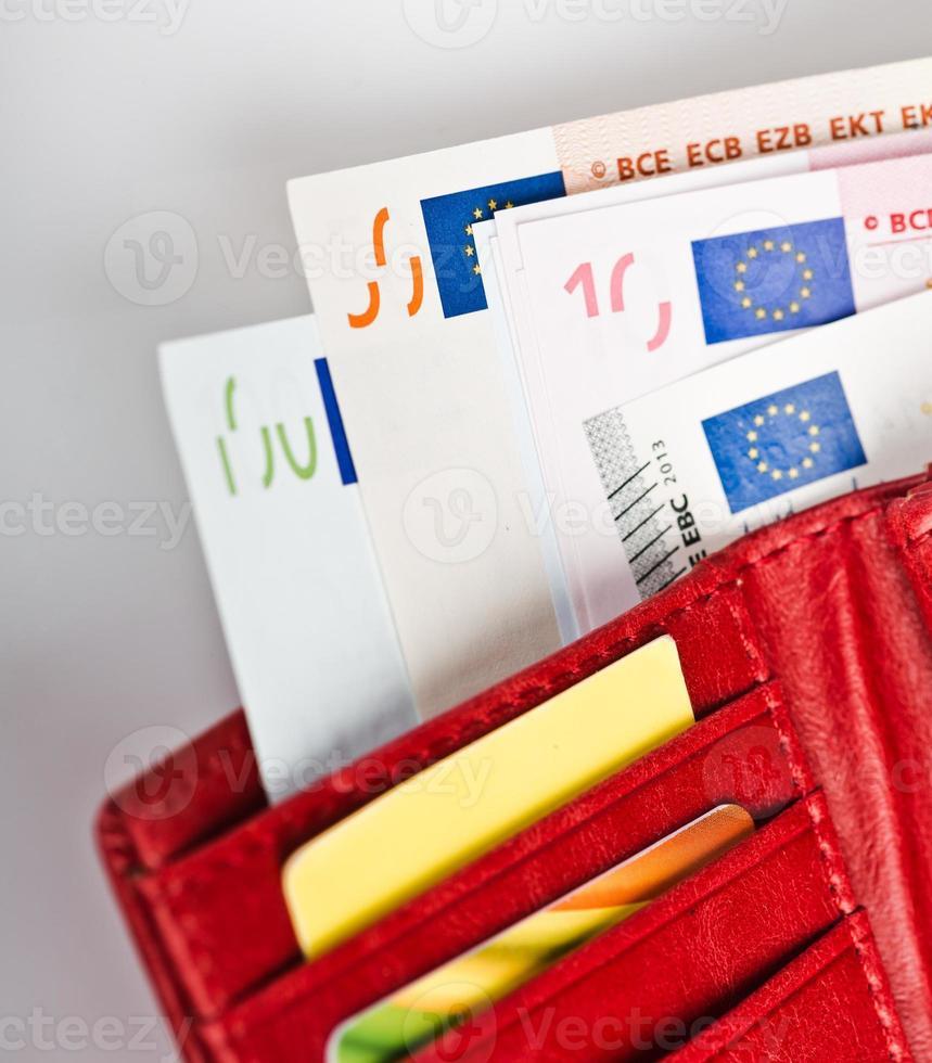 Euro Geld in der Brieftasche foto
