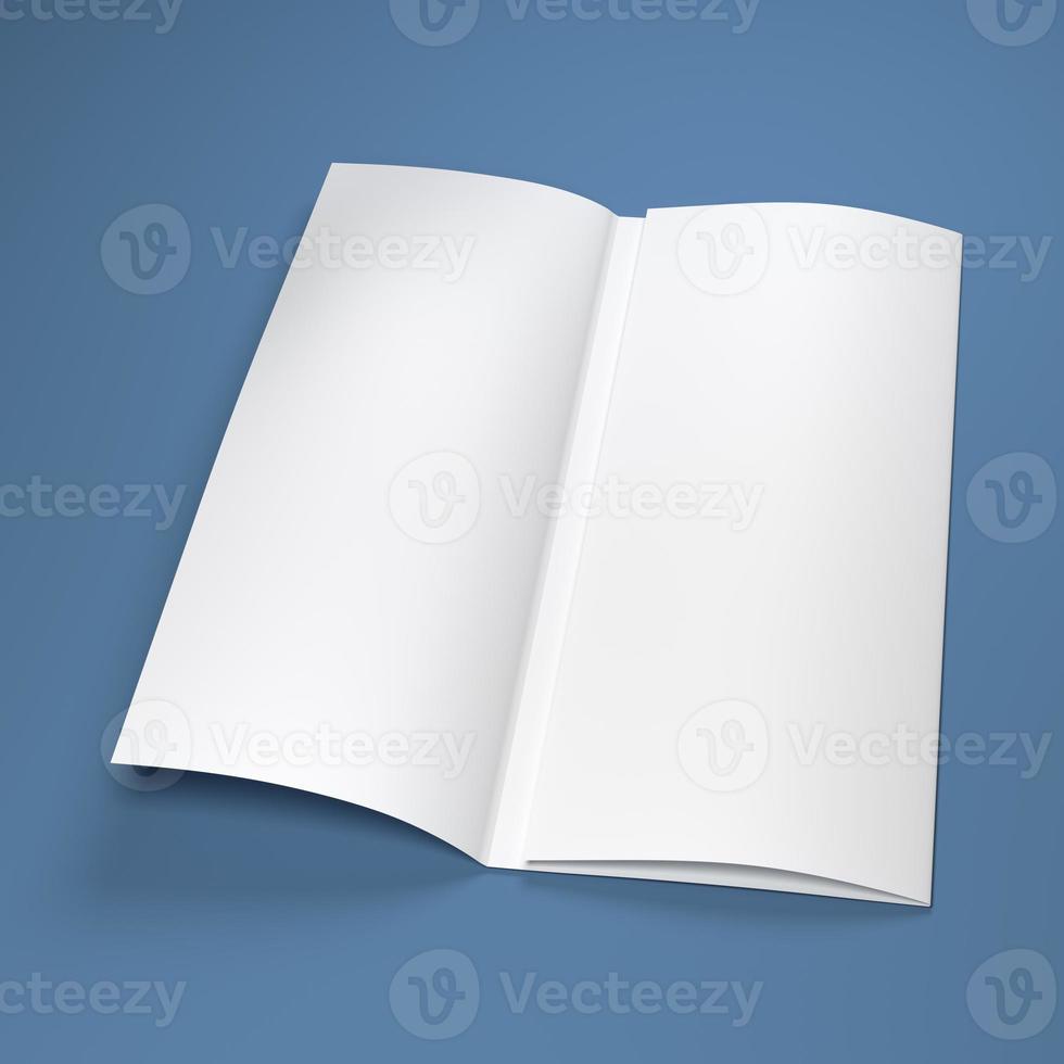 weiße leere Papierbroschüre foto