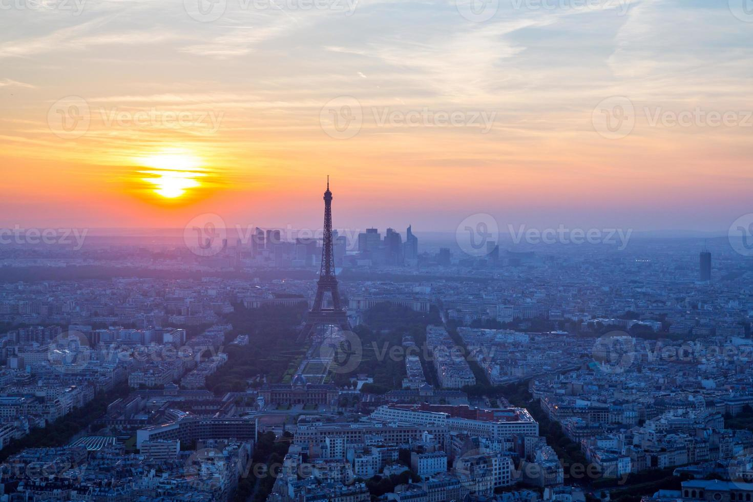 Eiffelturm Sonnenuntergang foto