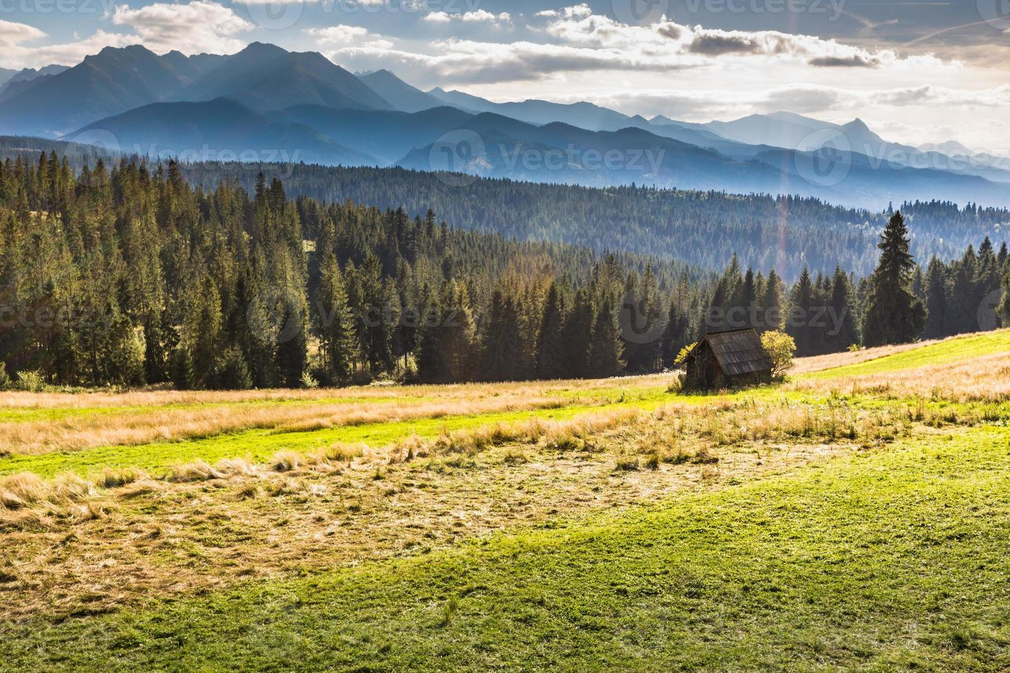 Berge Landschaft.Tatra Berge, Polen. foto