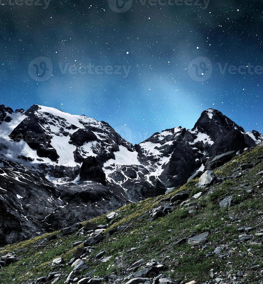 Marmolada-Gipfel im Val di Fasa foto