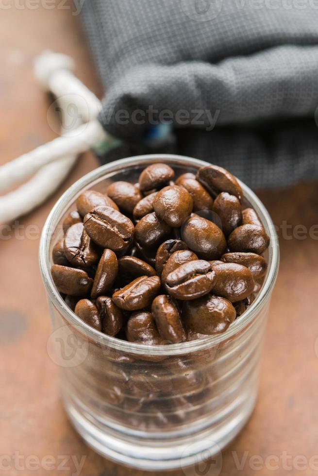 Kaffeebohnen Röster foto
