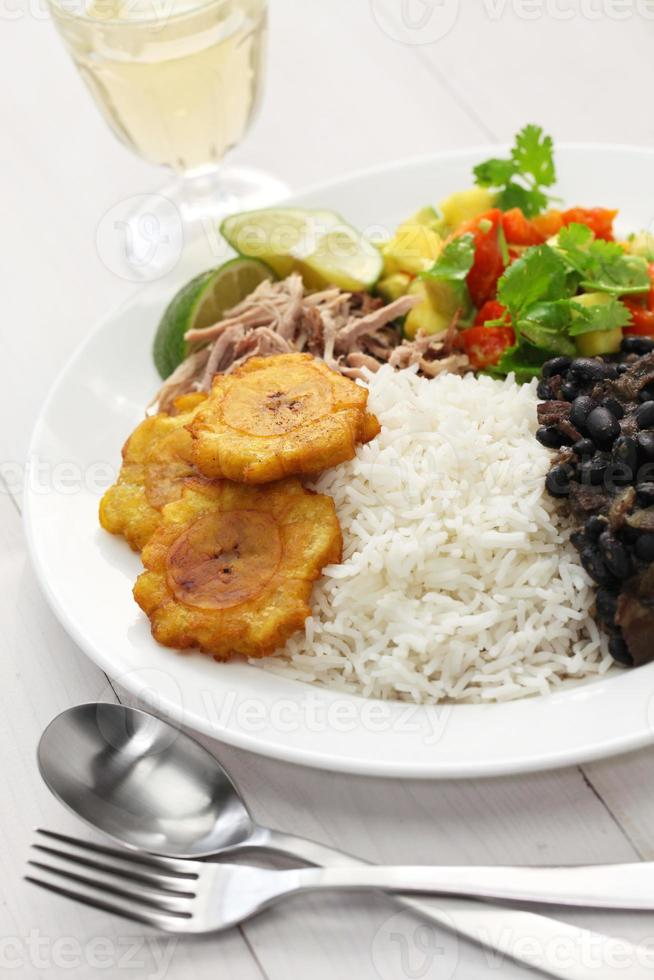 kubanische Küche, Arroz con Frijoles Negros foto
