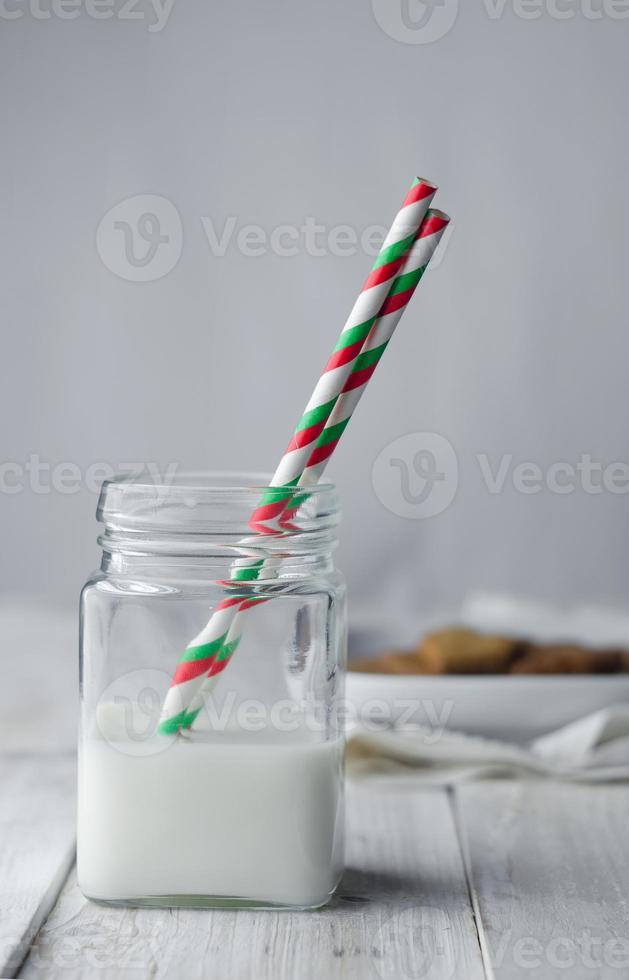 Glas mit Milch foto