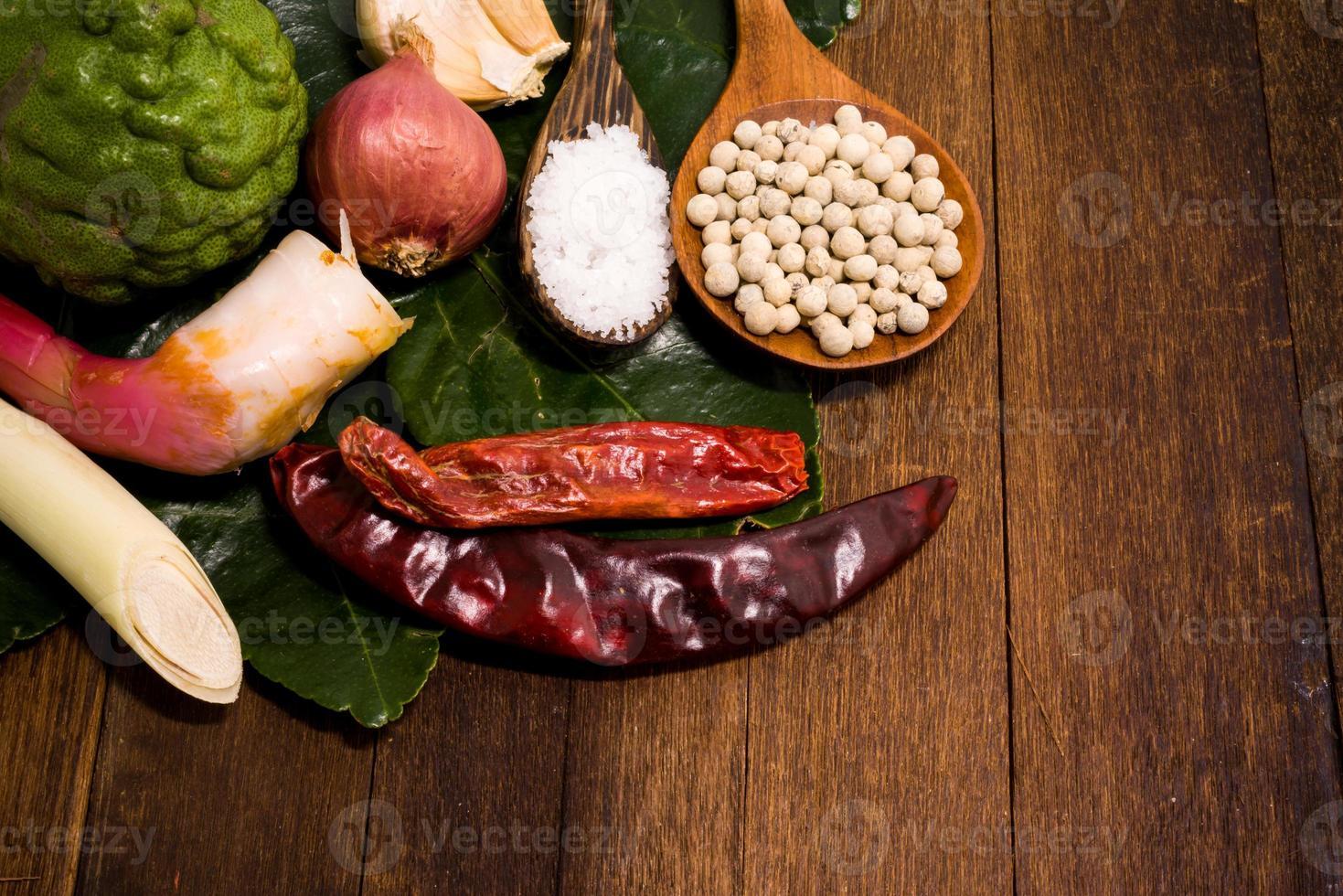 Bestandteil der thailändischen roten Curry-Paste foto