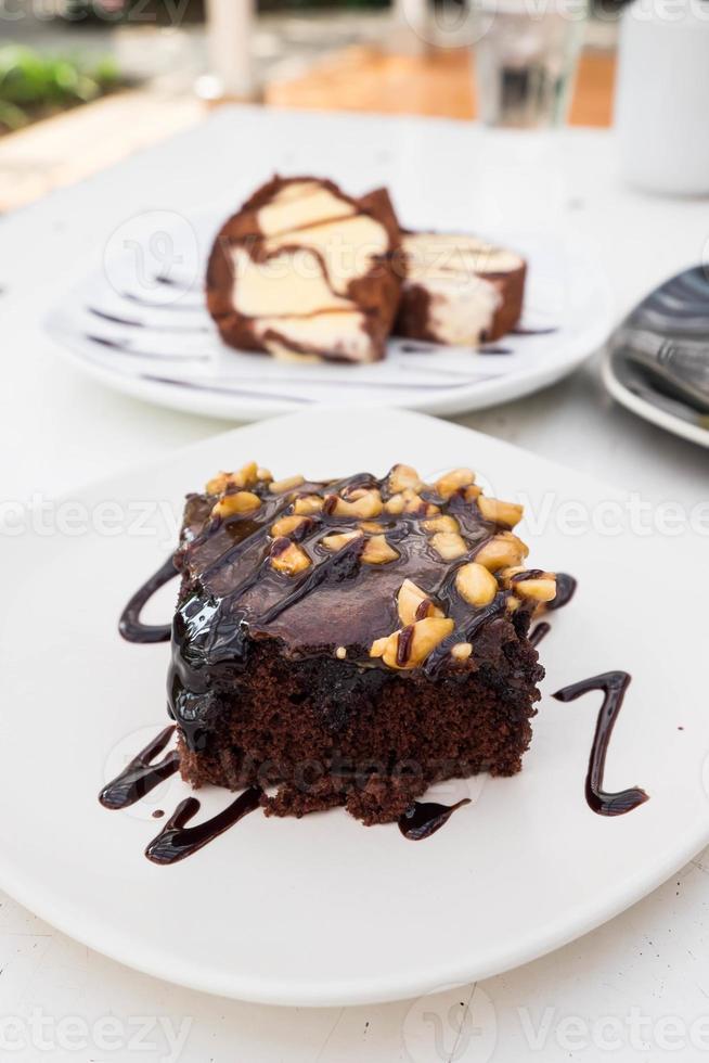 Schokoladen Brownie foto