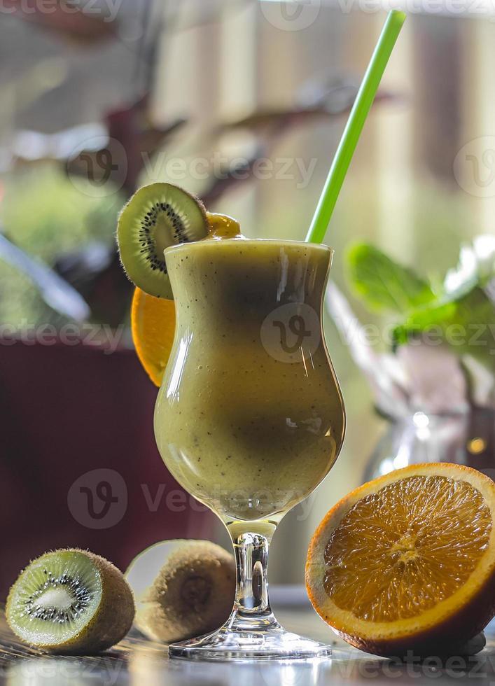 Smoothies, orange Kiwi foto