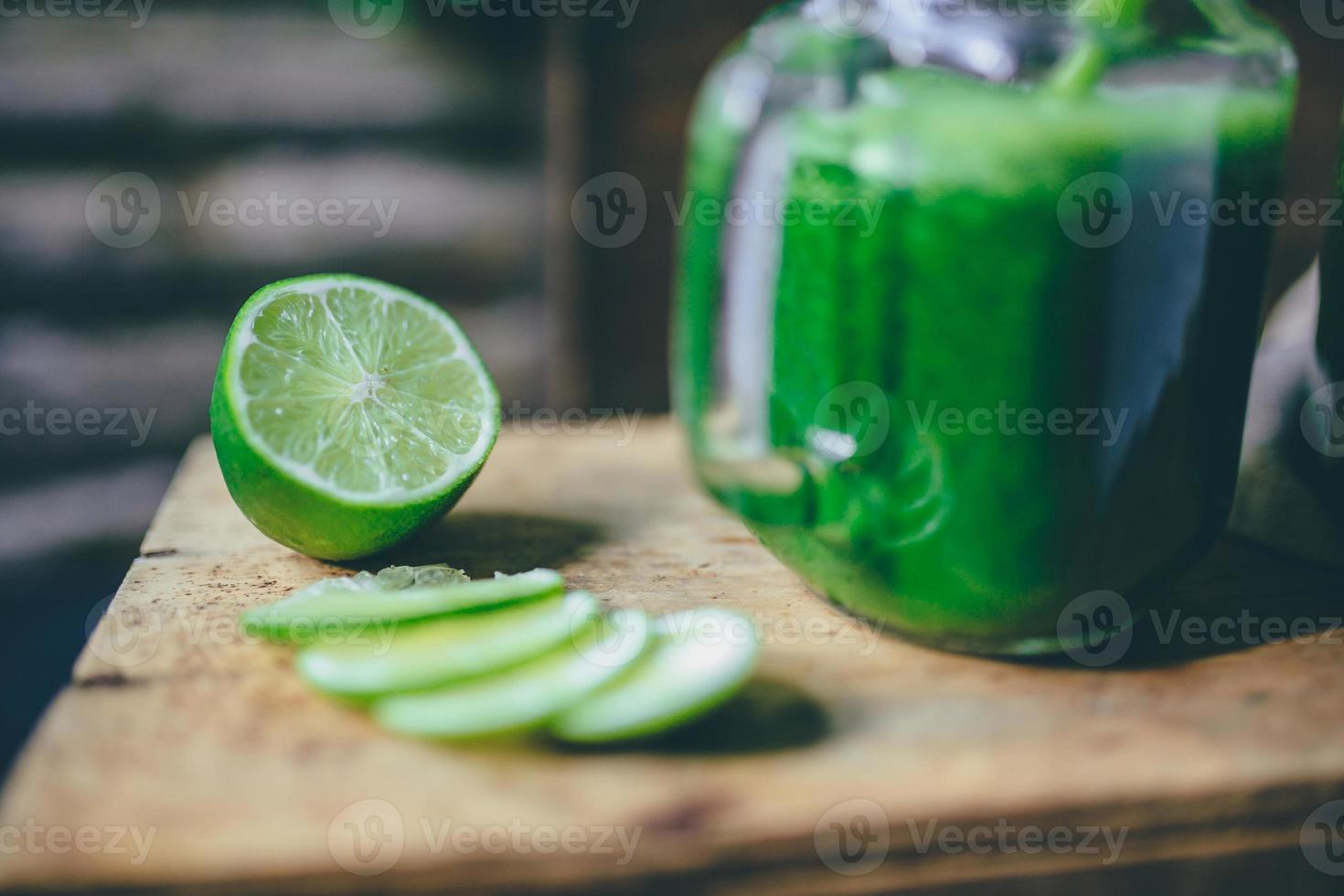 grüner Saft Smoothie foto