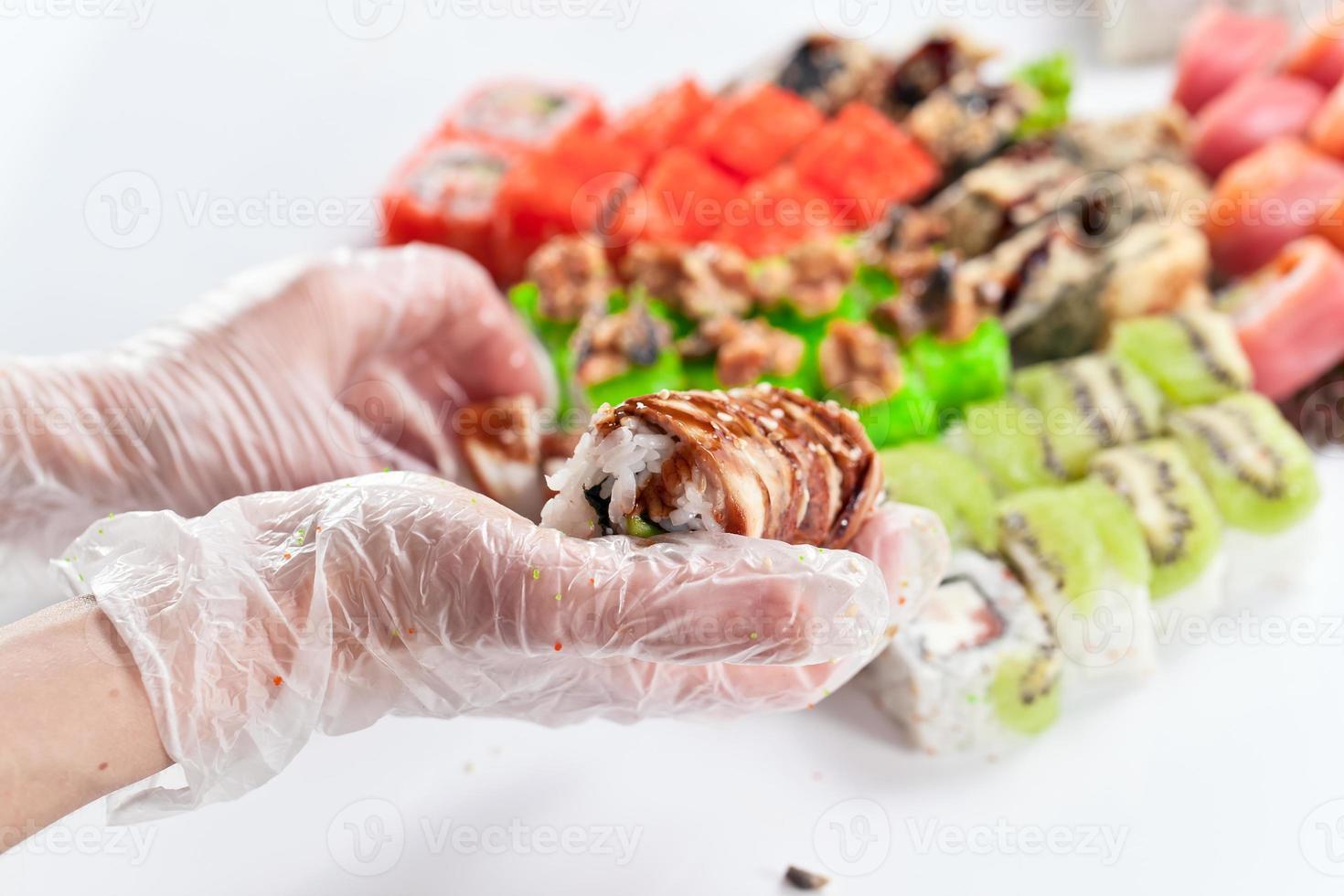Tisch mit Meeresfrüchten foto