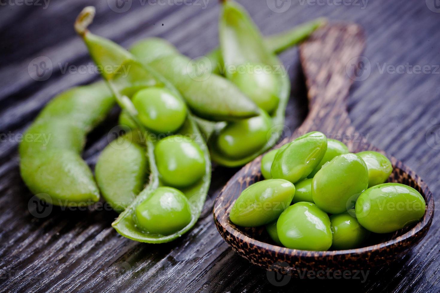 grüne Sojabohnen foto