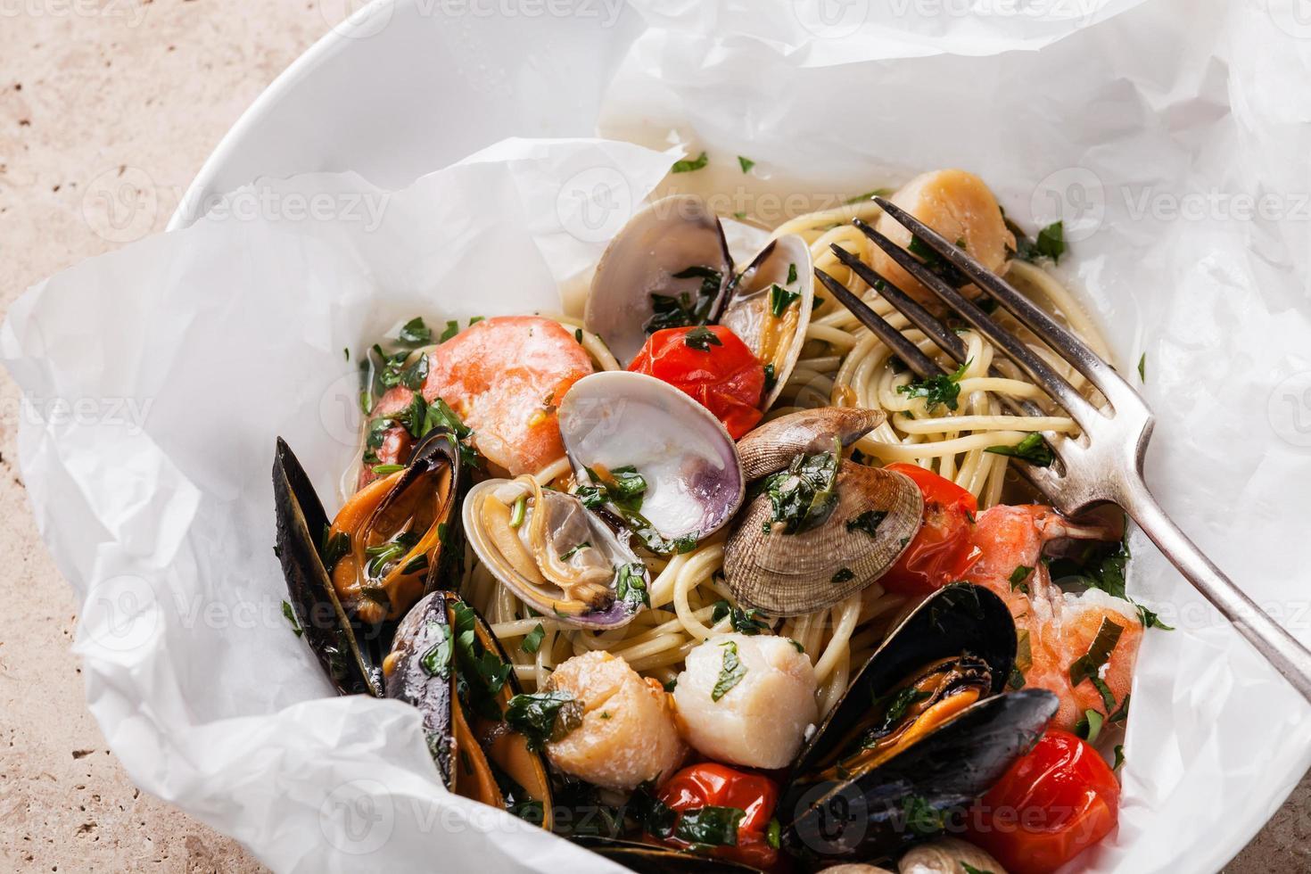Meeresfrüchte Pasta foto