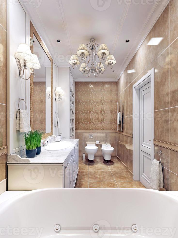 anmutiges Badezimmer Art Deco Design foto