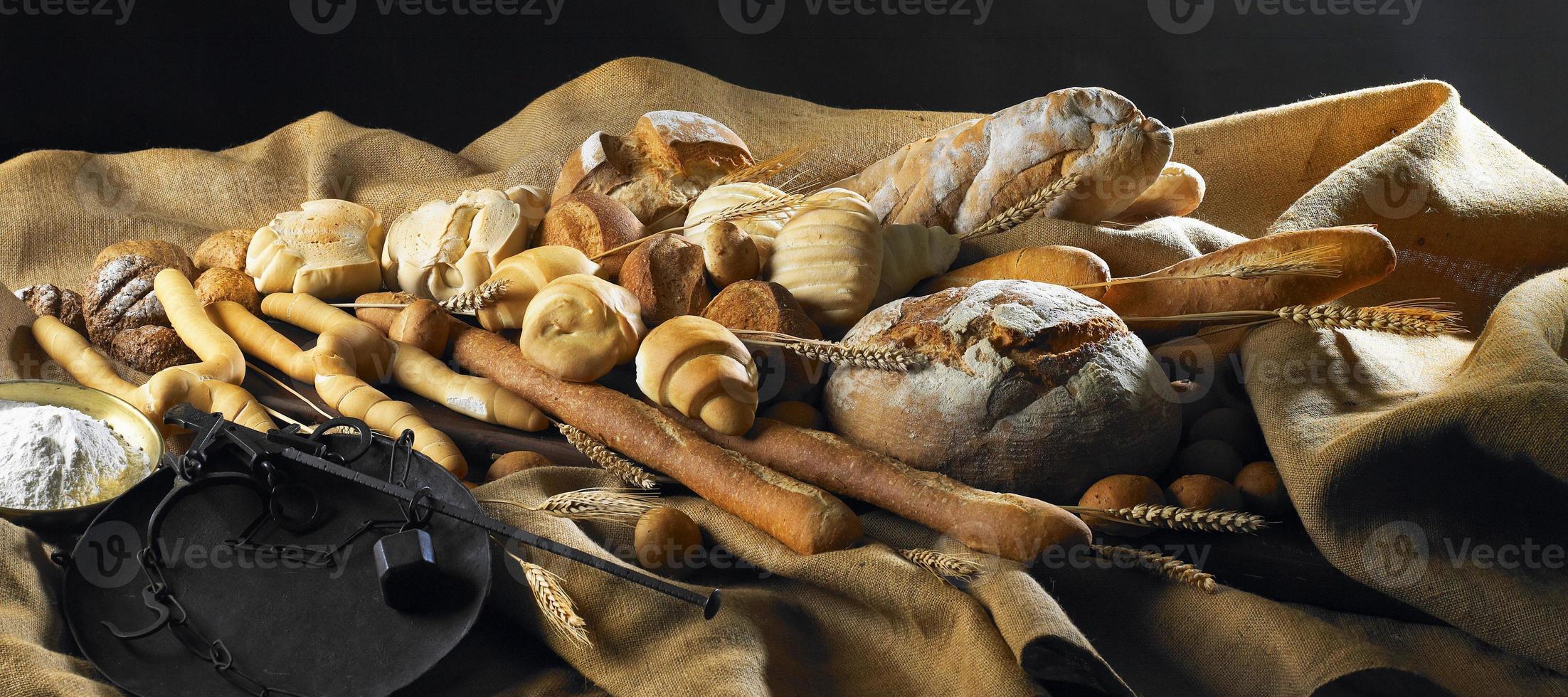 Stillleben mit Brot foto