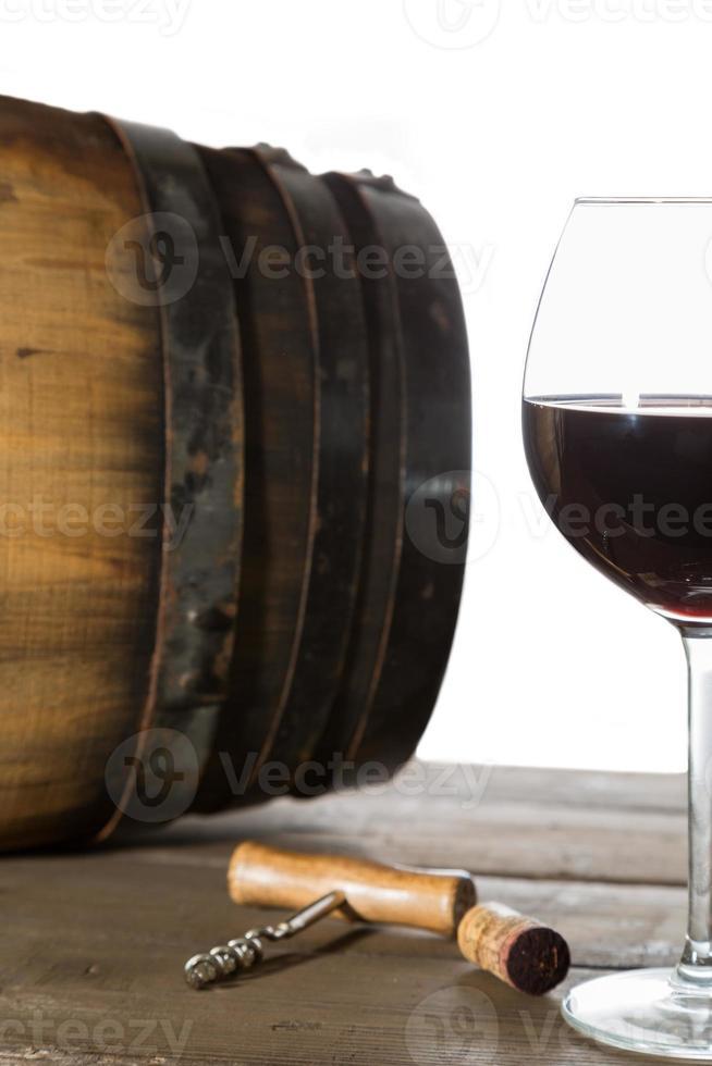 Glas Rotwein foto
