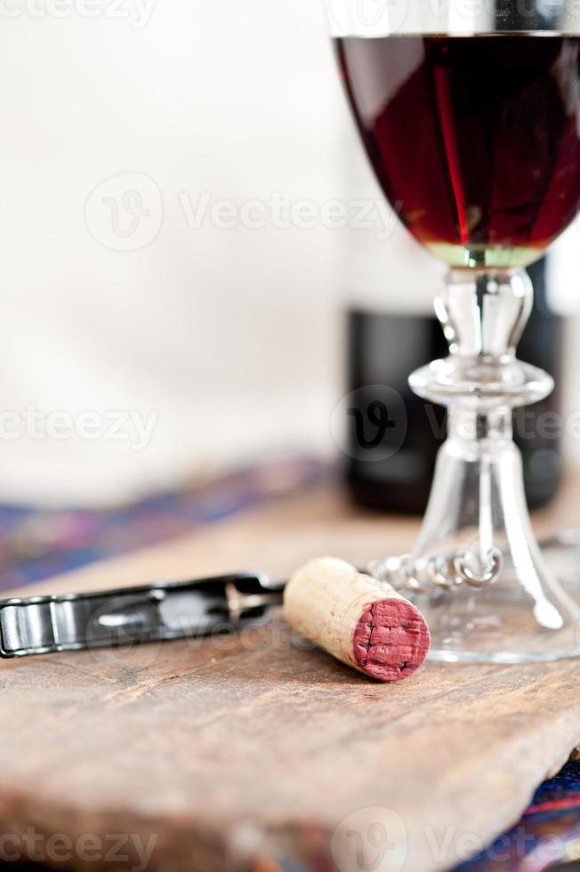 Rotweinprobe foto