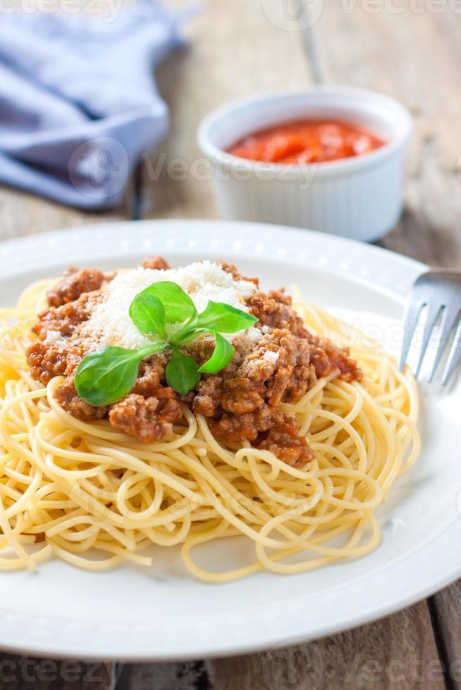 italienische Pasta Bolognese foto