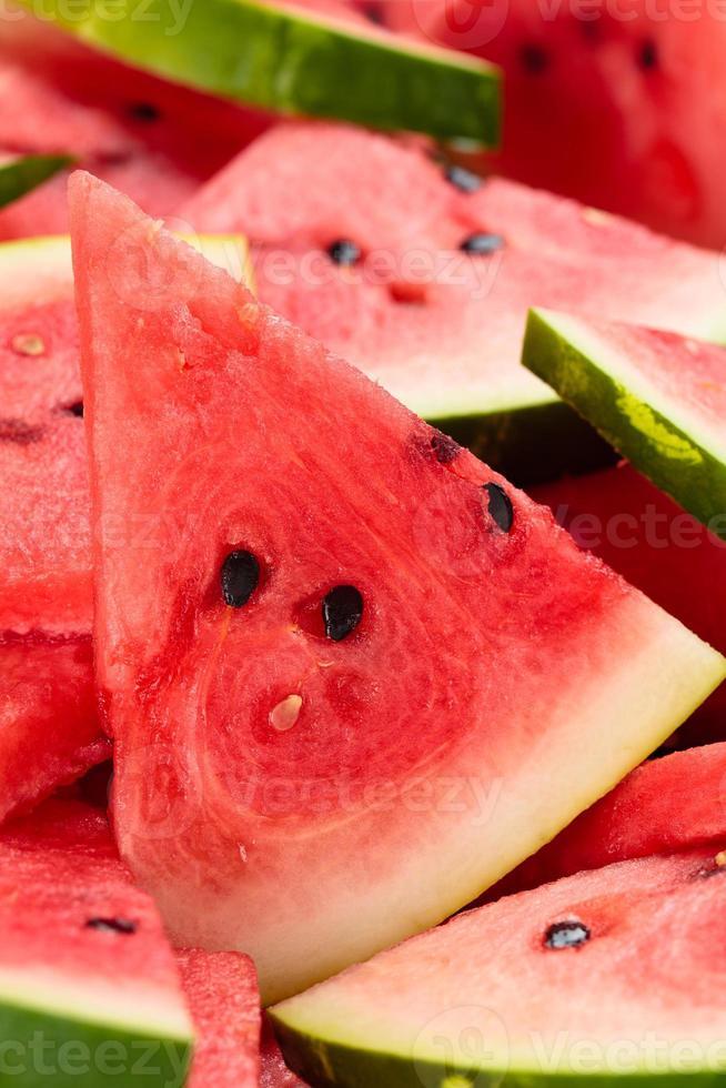 geschnittene Wassermelone. foto