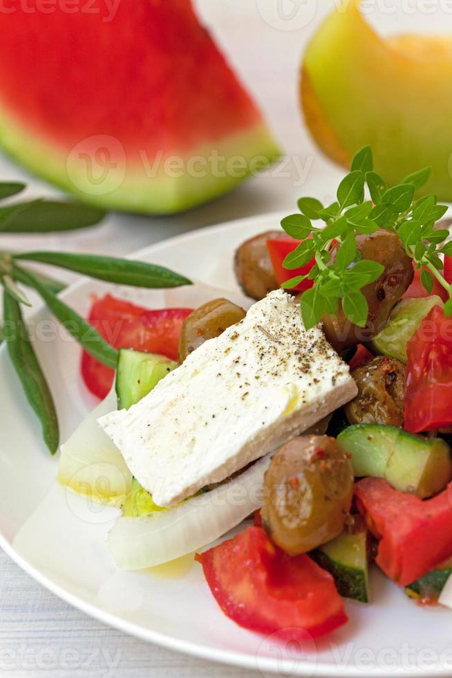 Salat mit Oliven foto