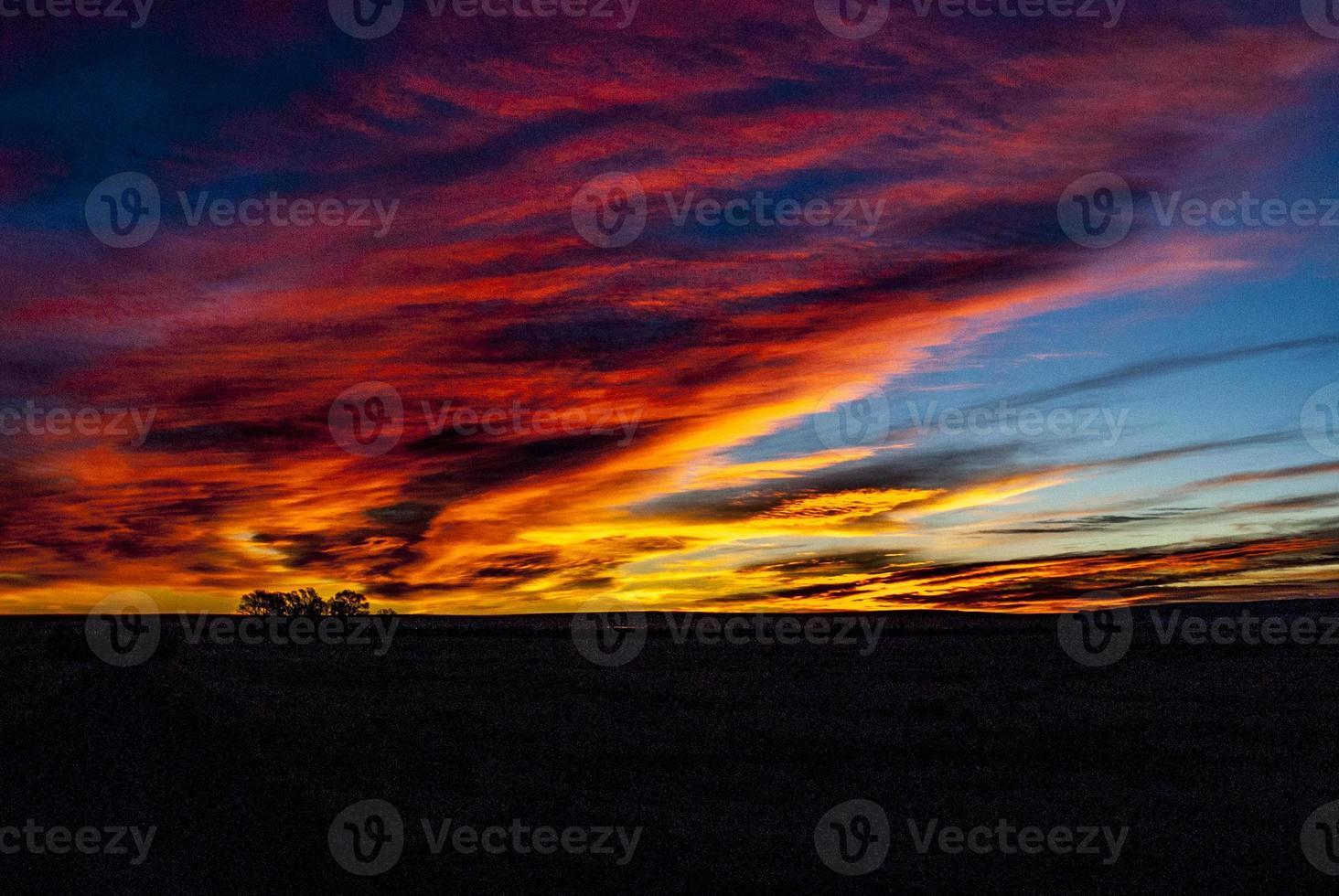 Landschaft des Sonnenaufgangs in New Mexico foto