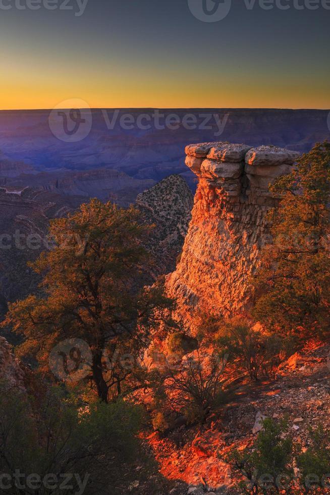 Grand Canyon National Park - Südrand bei Sonnenuntergang foto