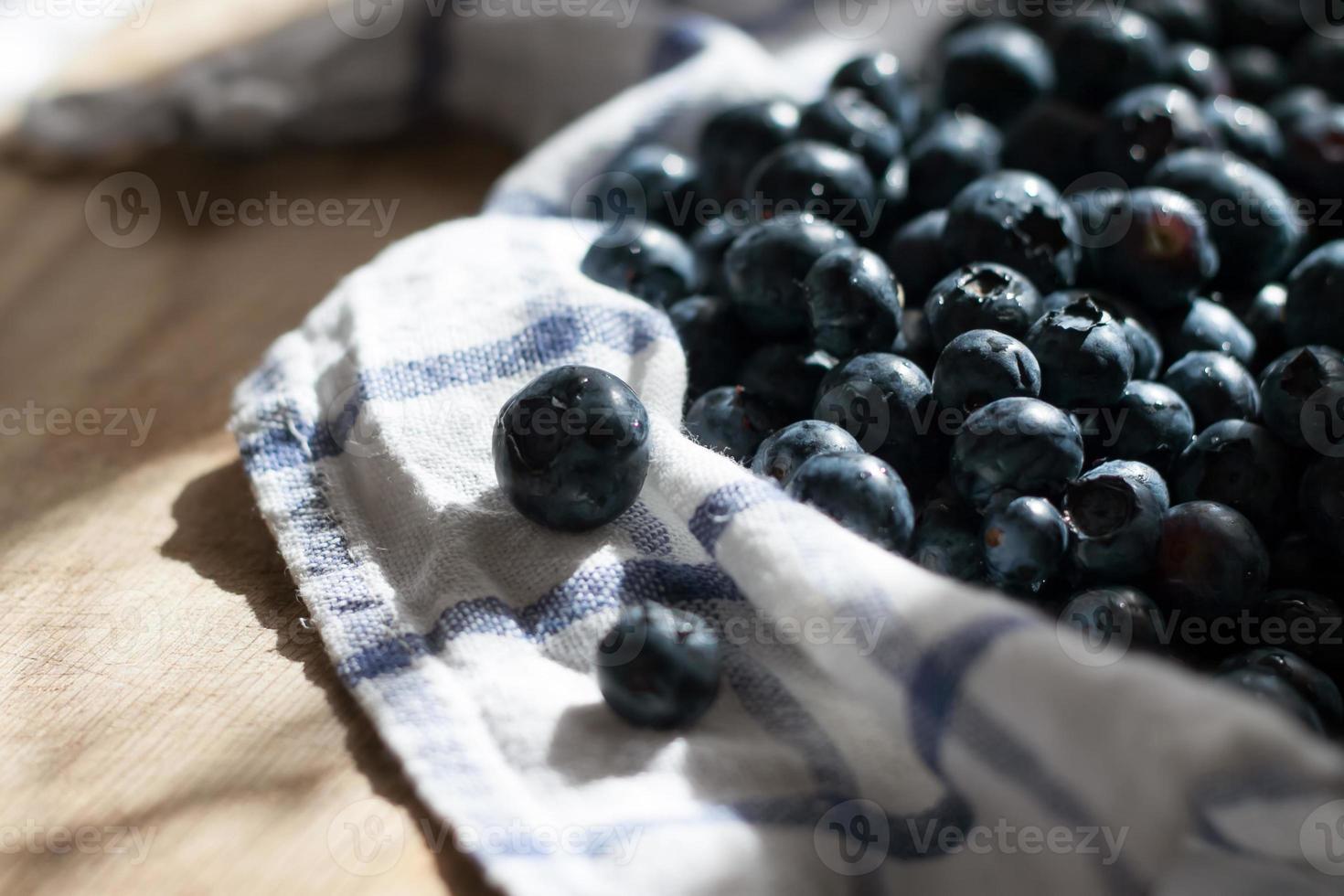 köstliche saftige frische Blaubeeren foto