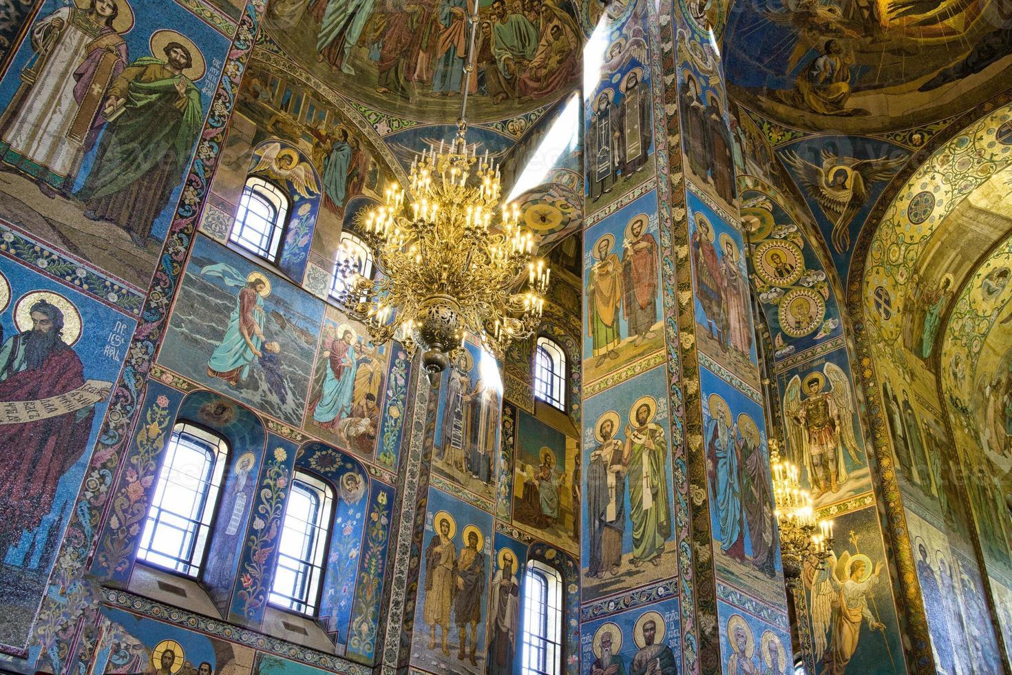 Saint Petersburg in der Kirche foto