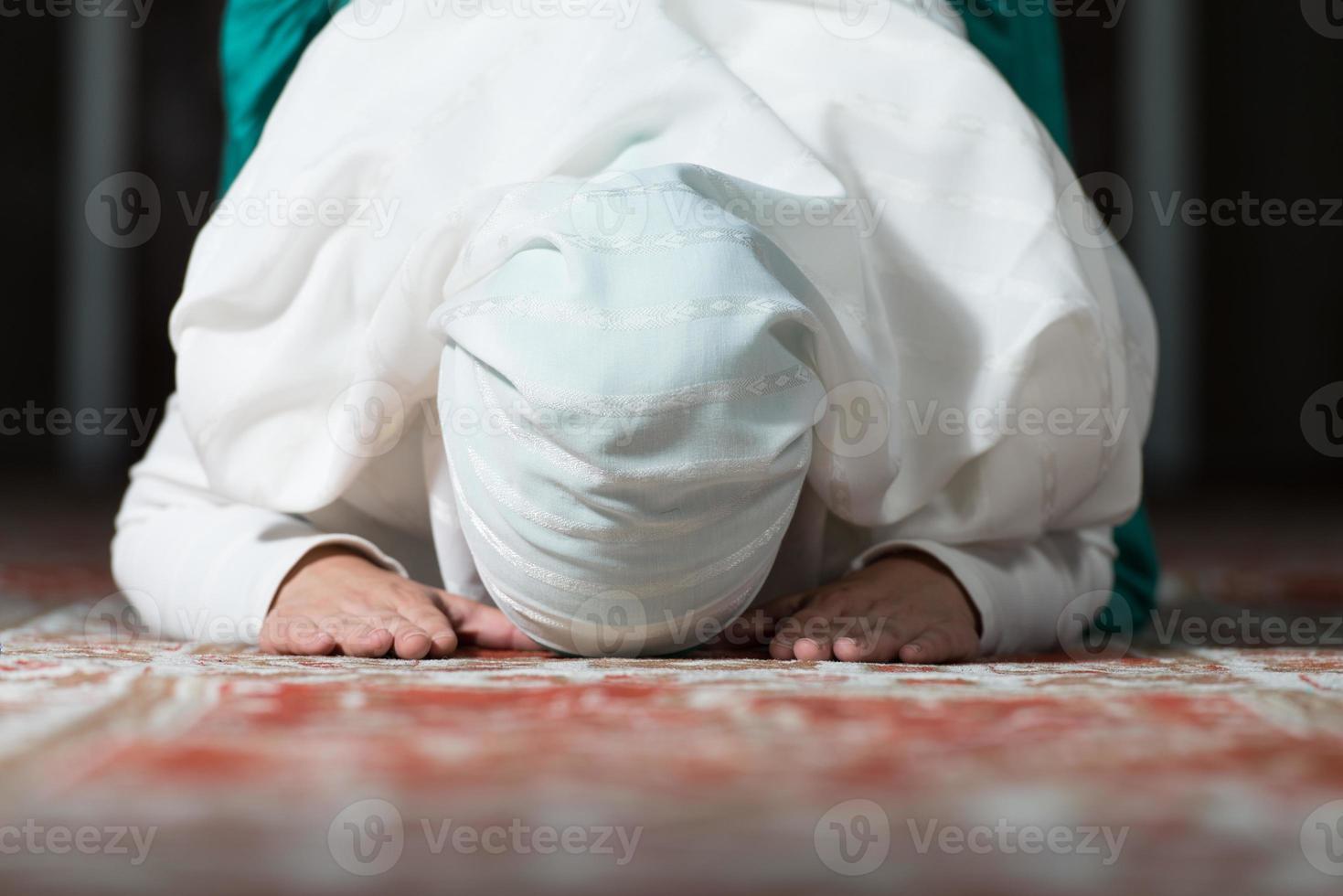 Gebet in der Moschee foto