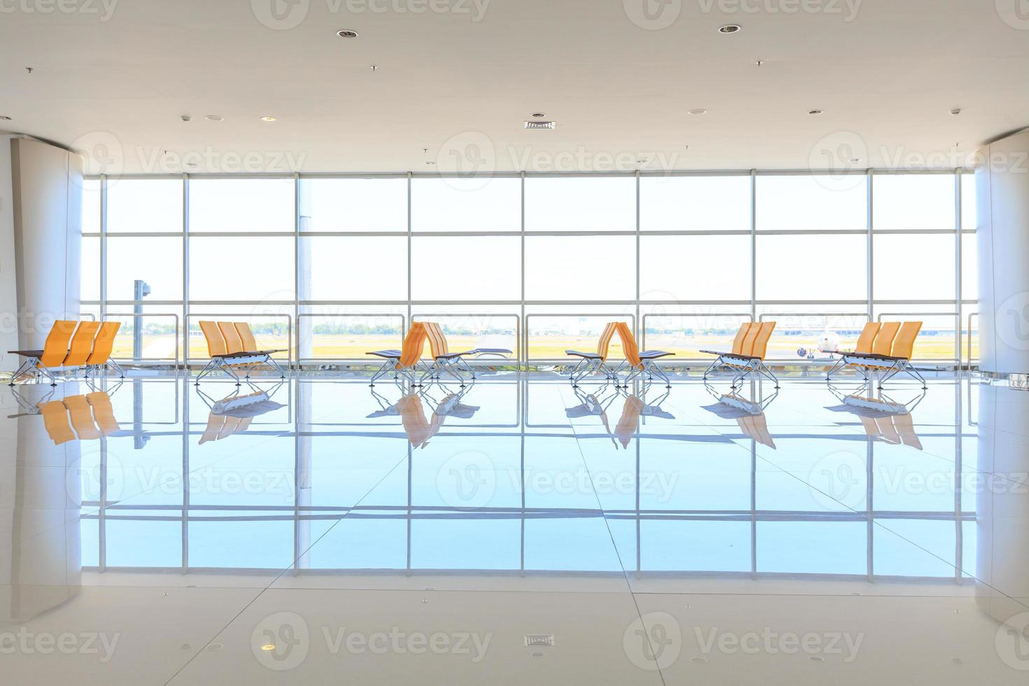 Wartebereich am Flughafen foto