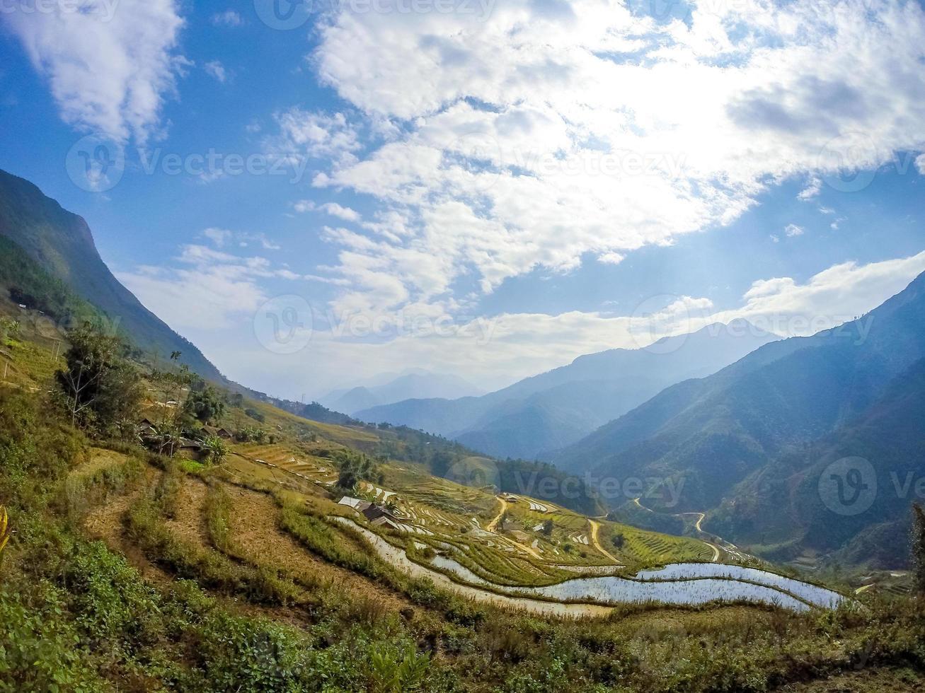 Landschaft in Vietnam foto