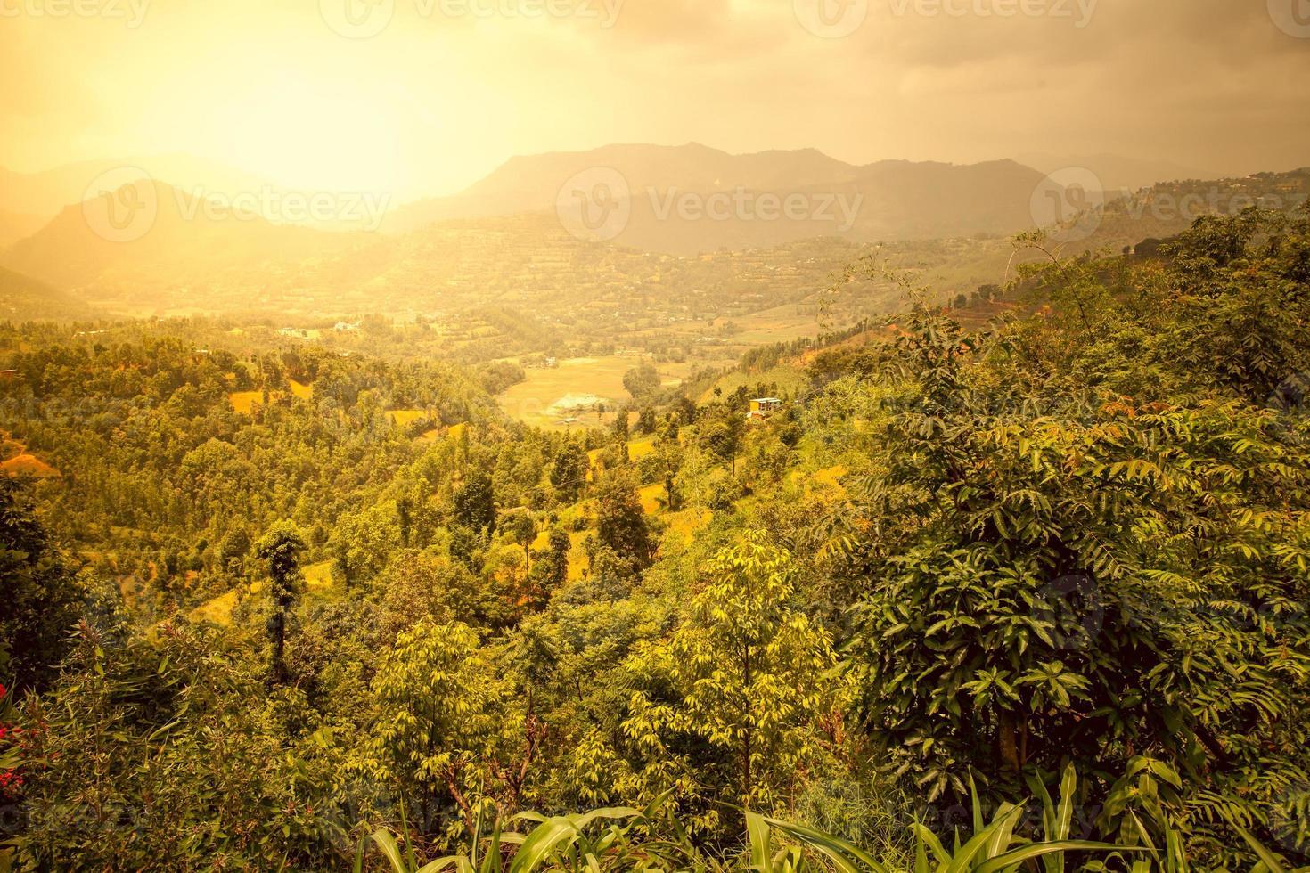 schöne asiatische Landschaft foto