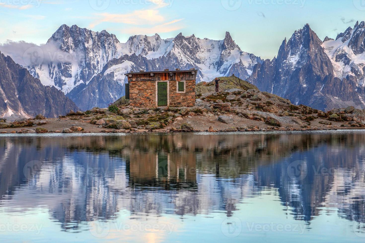 Landschaft in den europäischen Alpen foto