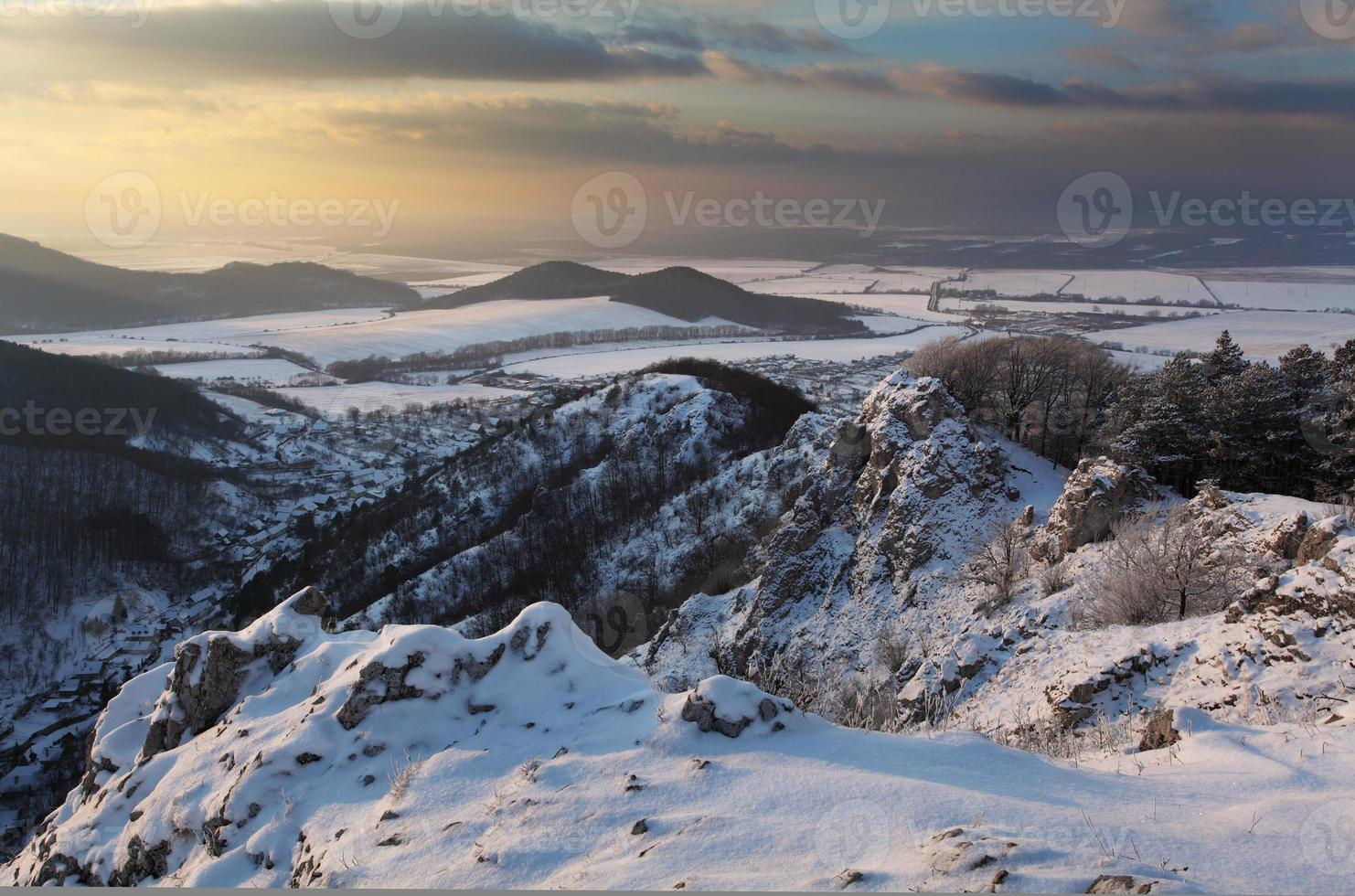 Winterlandschaft in der Slowakei foto