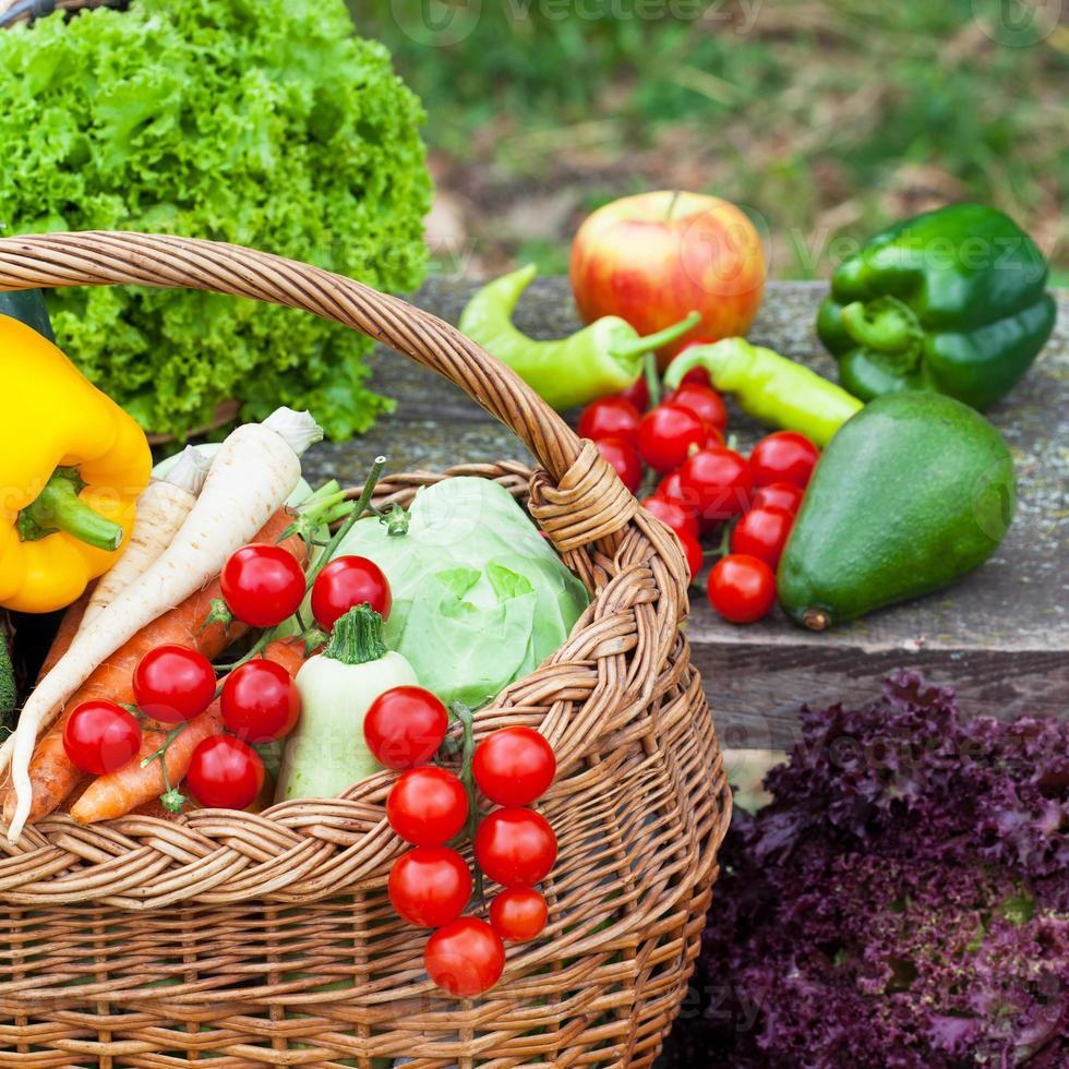 gesundes orgsnic Gemüse foto