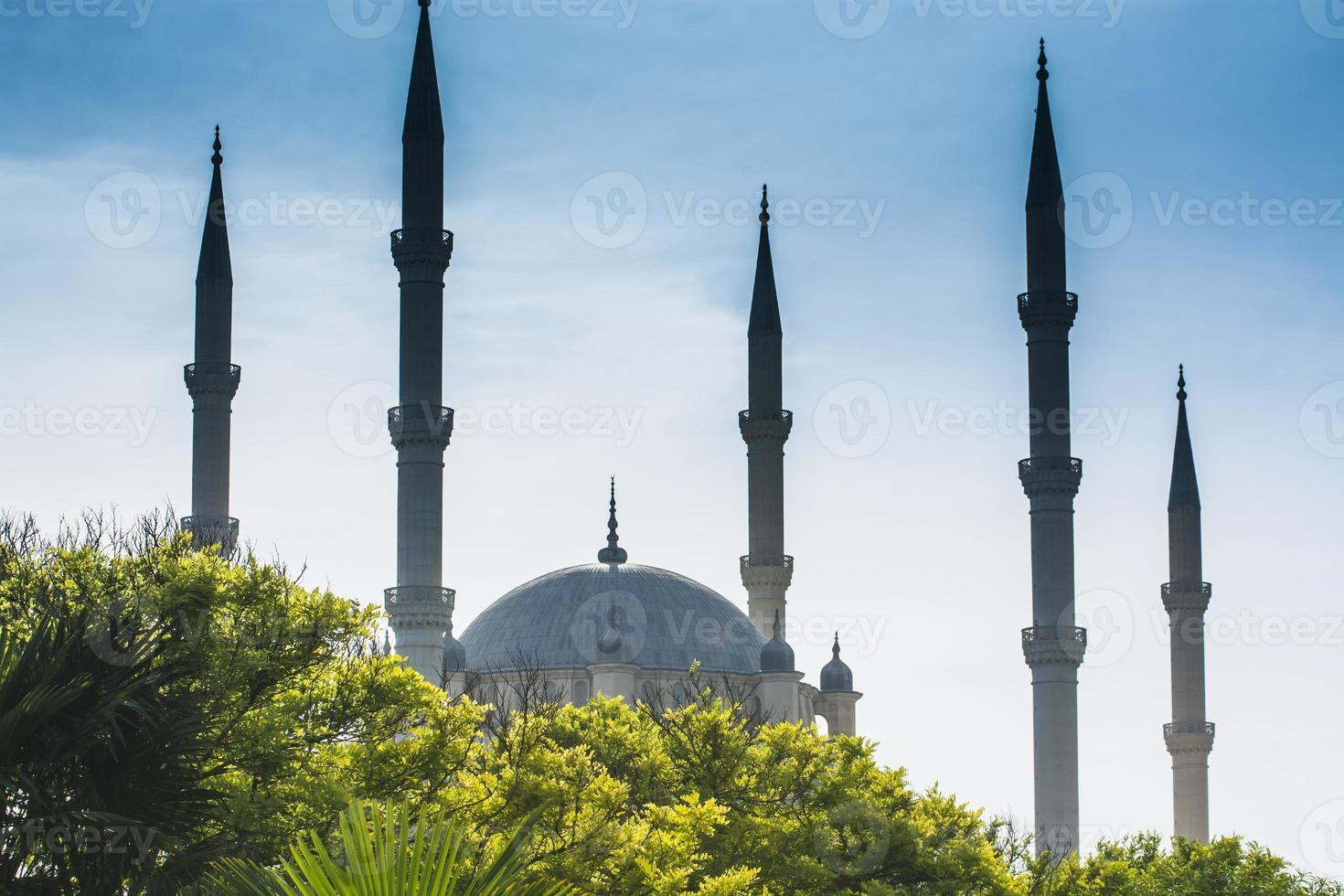 große, zentrale Moschee, Adana, Truthahn foto