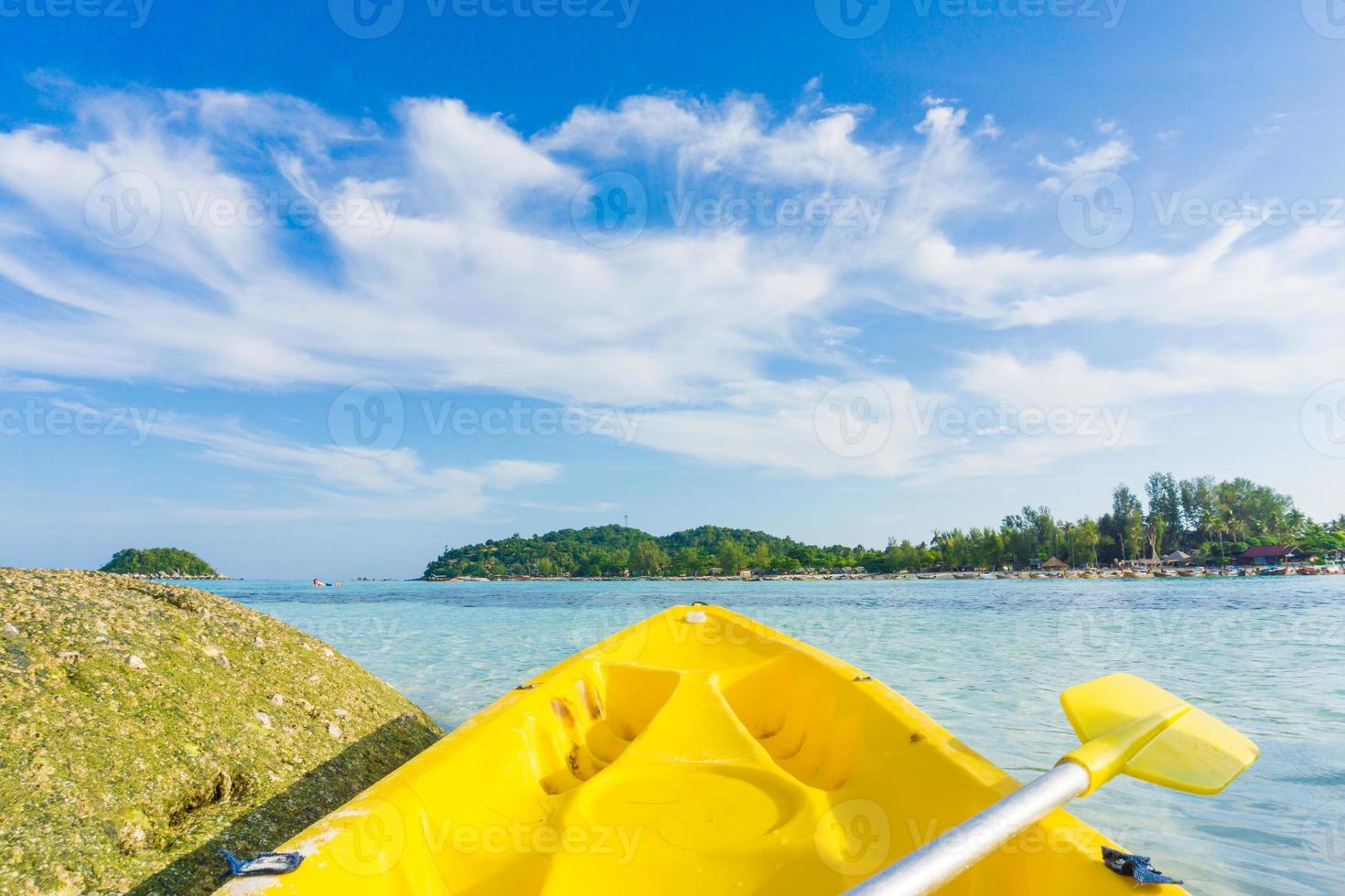 vor dem Kajakfahren, Meer auf lipe Insel foto